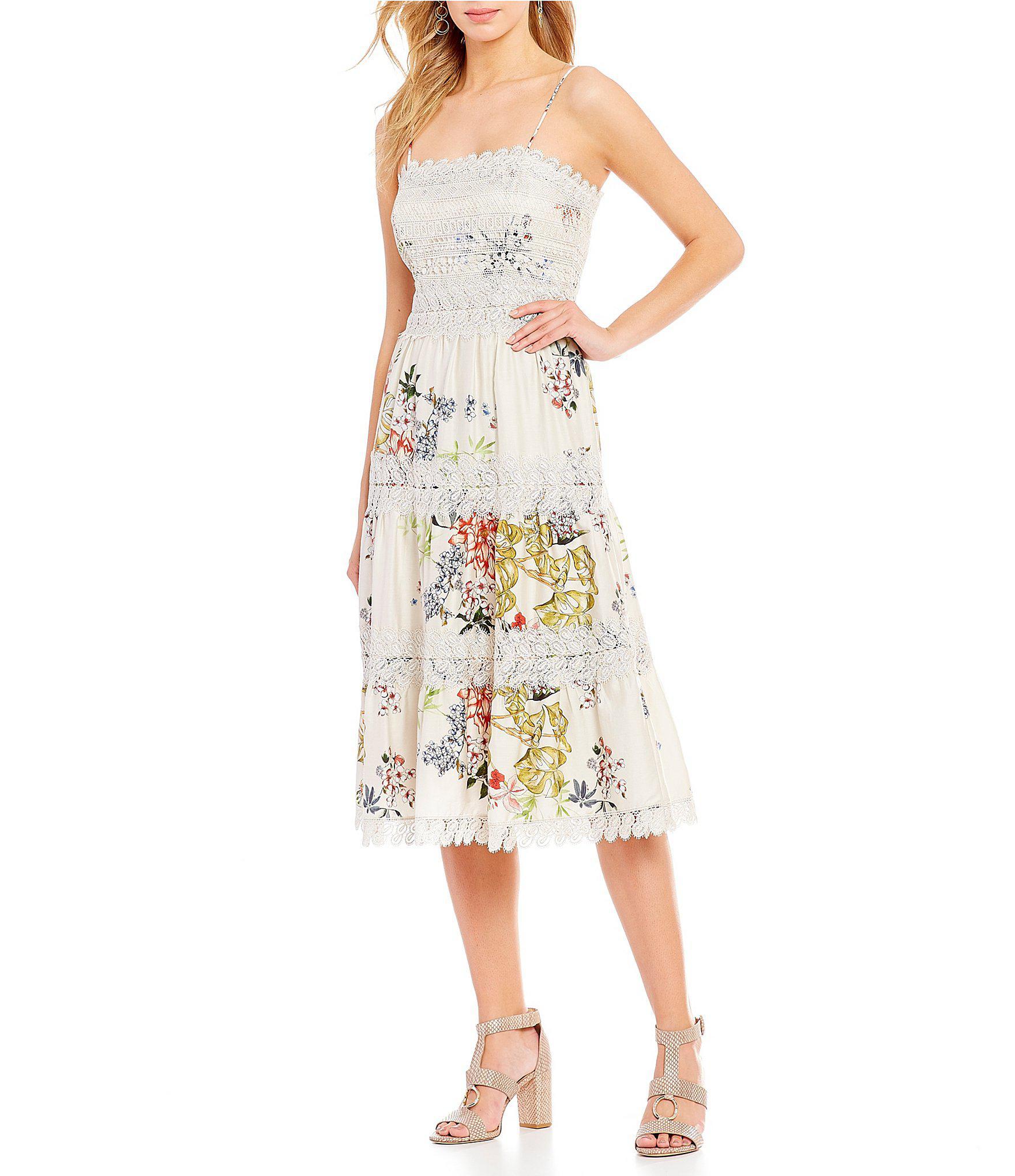 8a1bb758cc1ac Antonio Melani Edia Sateen Printed A-line Midi Dress - Lyst