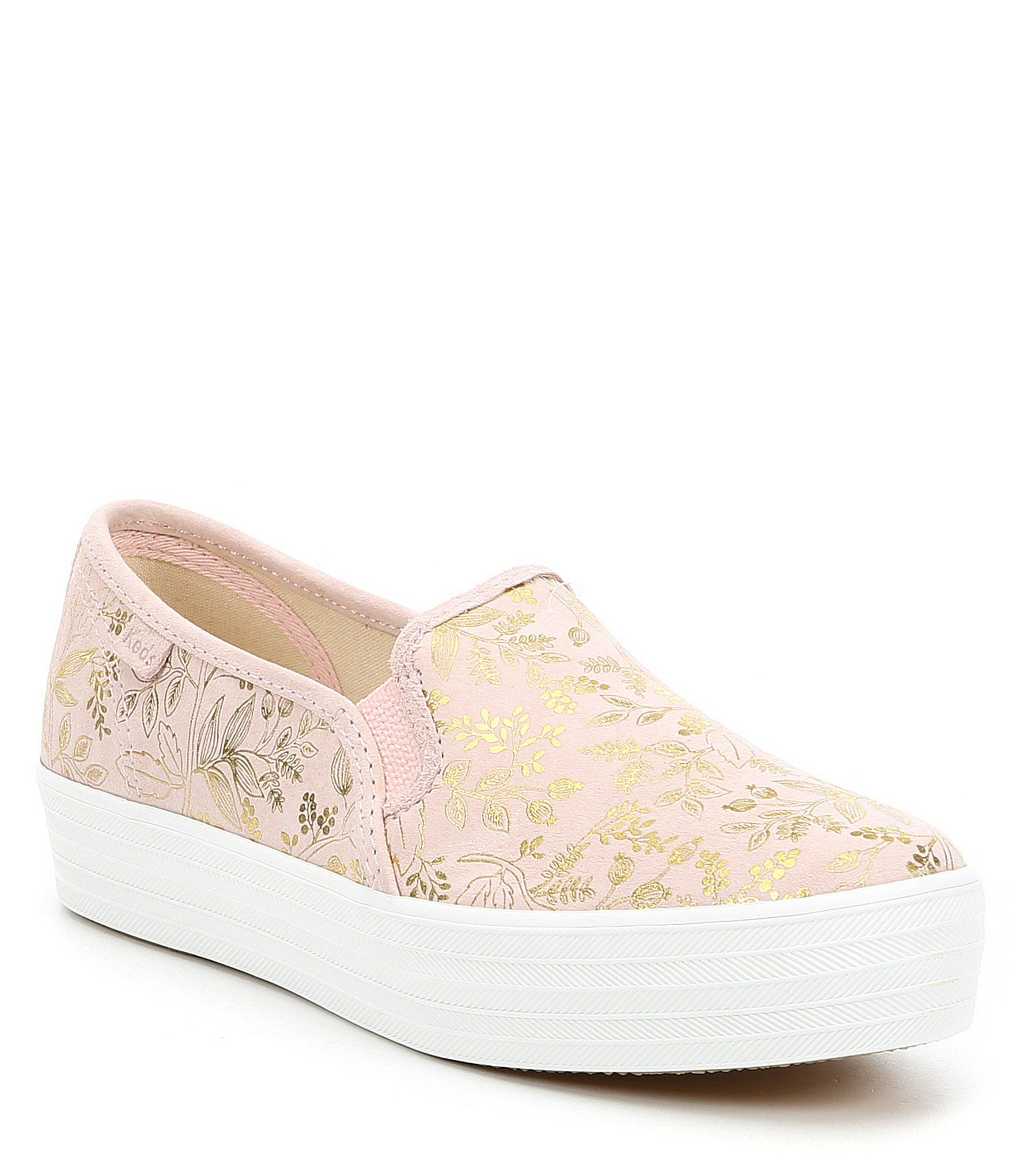 9080fa6284 Lyst - Keds X Rifle Paper Co. Triple Decker Forest Sneakers in Pink