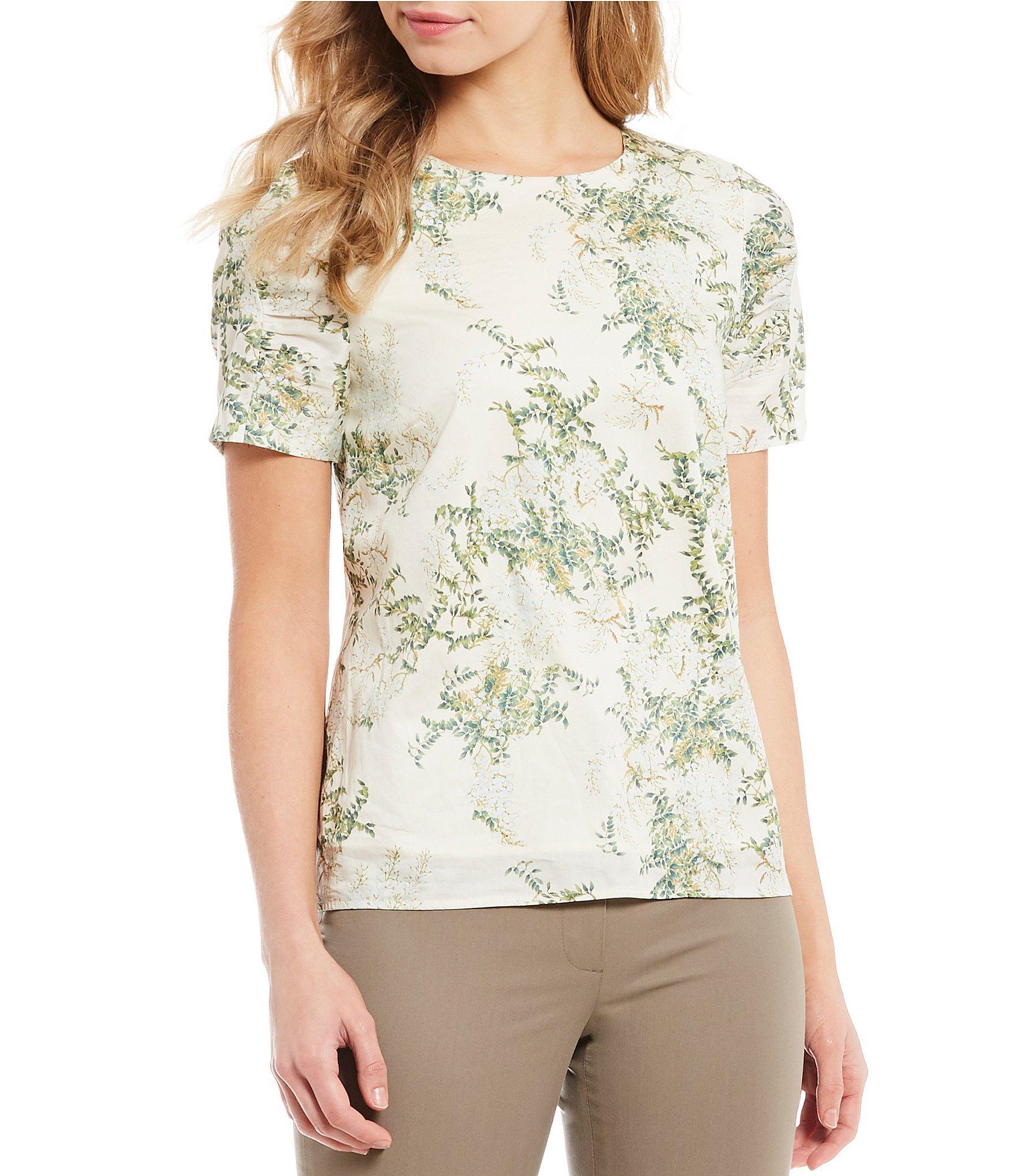 3b98cfb4f3736 Antonio Melani. Women s Lolina Leaf Print Puff Sleeve Blouse