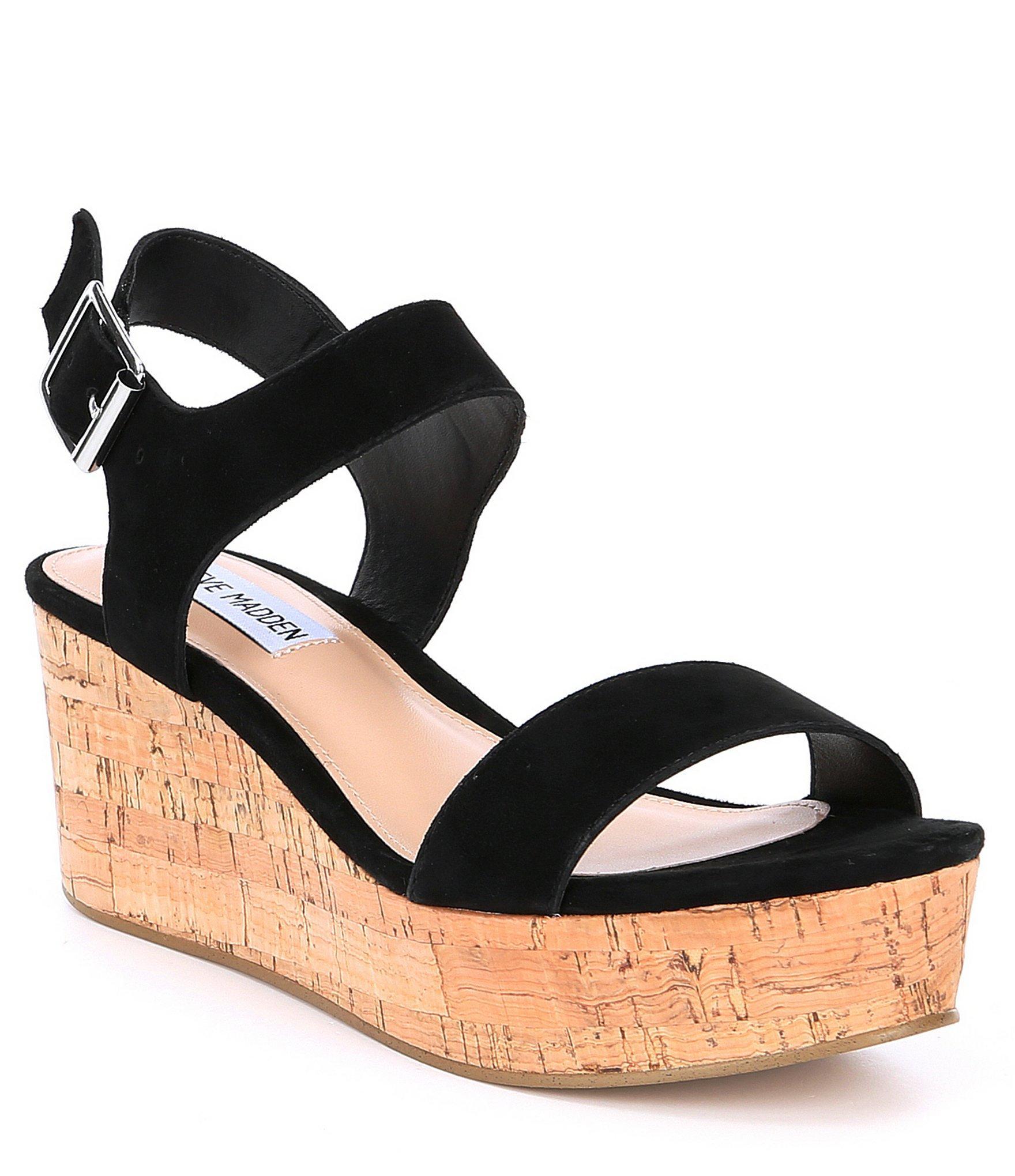 b8e7c7a2362 Lyst - Steve Madden Breathe Suede Platform Sandals in Black