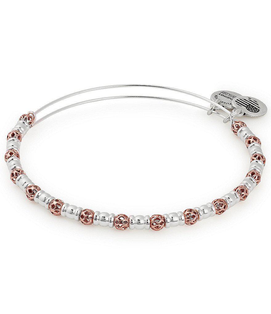Alex and Ani Orbit Expandable Charm Bracelet, Rafaelian Gold-Tone
