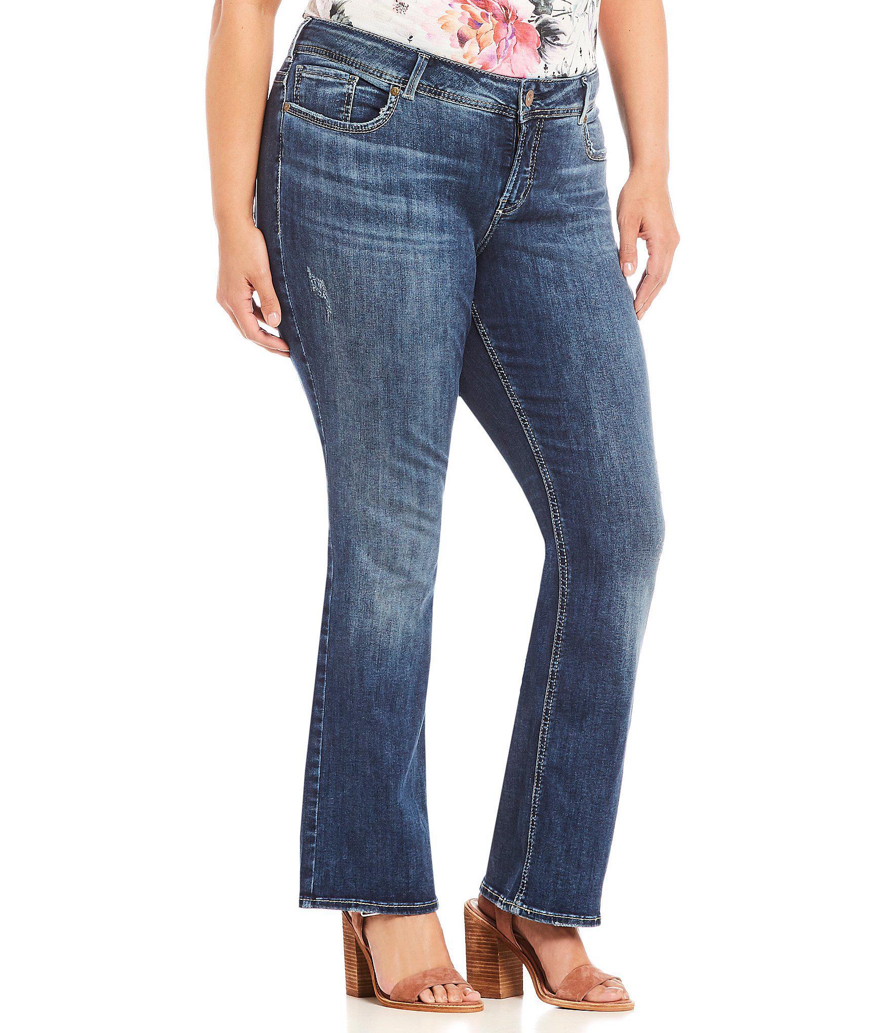 e61fd861509 Lyst - Silver Jeans Co. Plus Size Elyse Slim Bootcut Jeans in Blue