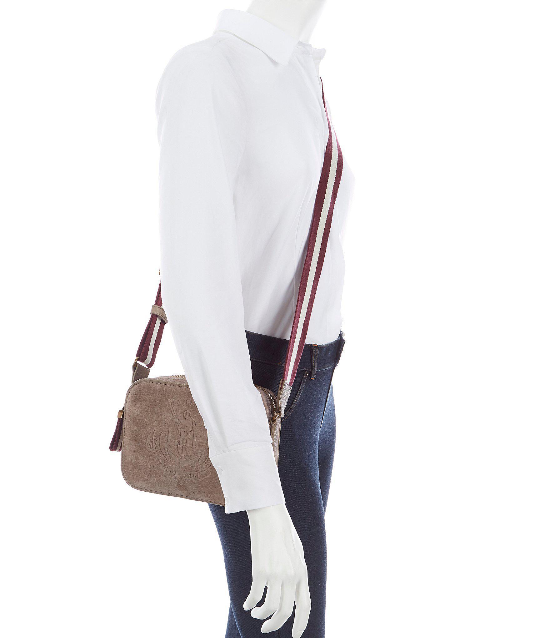Lyst - Lauren by Ralph Lauren Huntley Suede Cross-body Bag 69a8f7b897