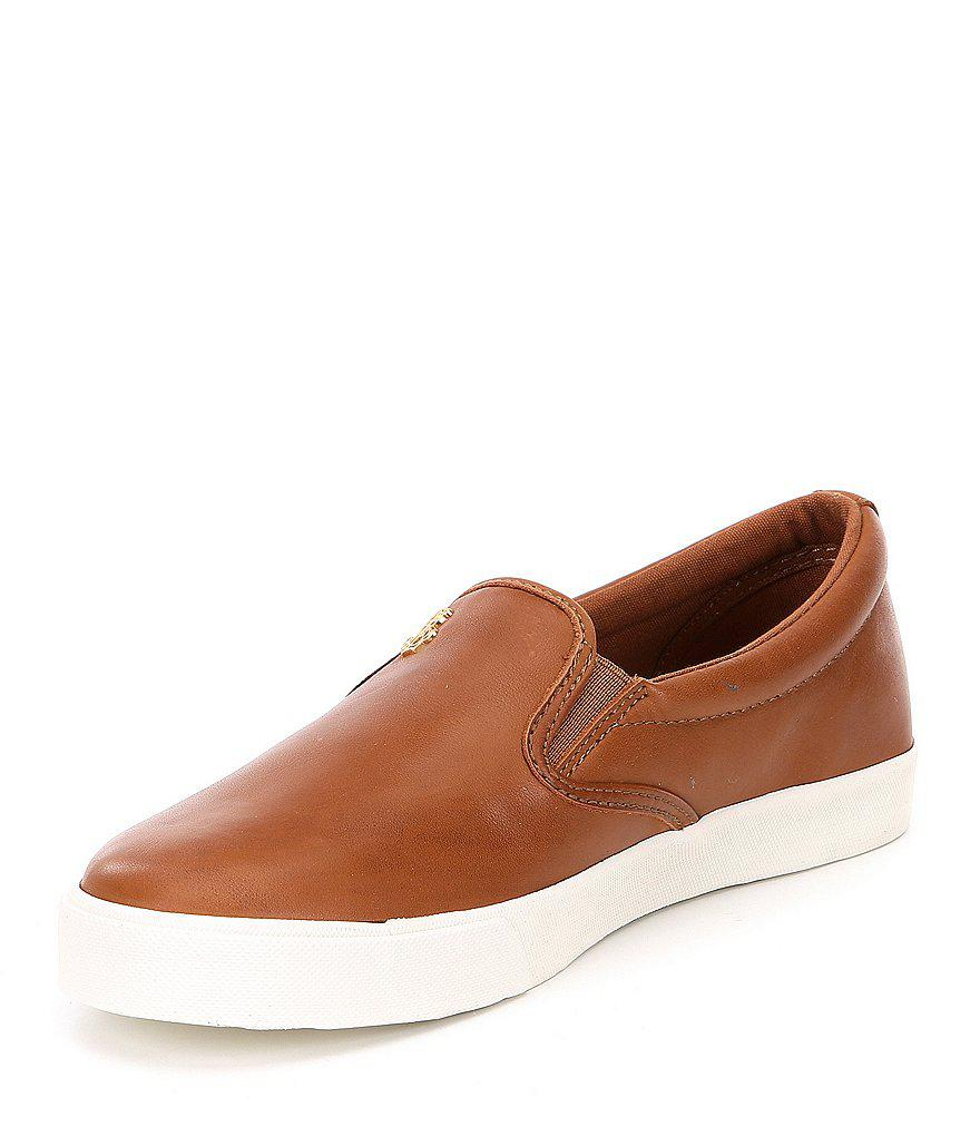 Ria Leather Slip On Sneakers