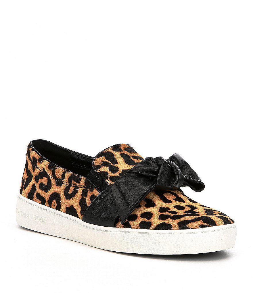 eb97c344b0d6 Lyst - MICHAEL Michael Kors Willa Cheetah Print Calf Hair Slip-on ...