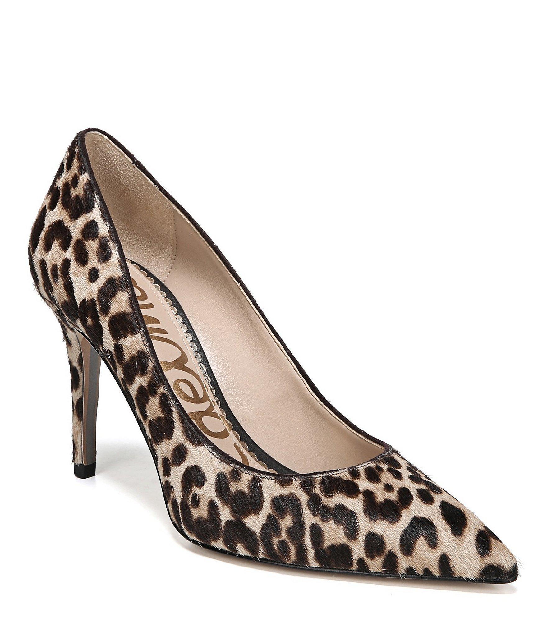 06f4870ef2 Lyst - Sam Edelman Margie Leopard Printed Dress Pumps