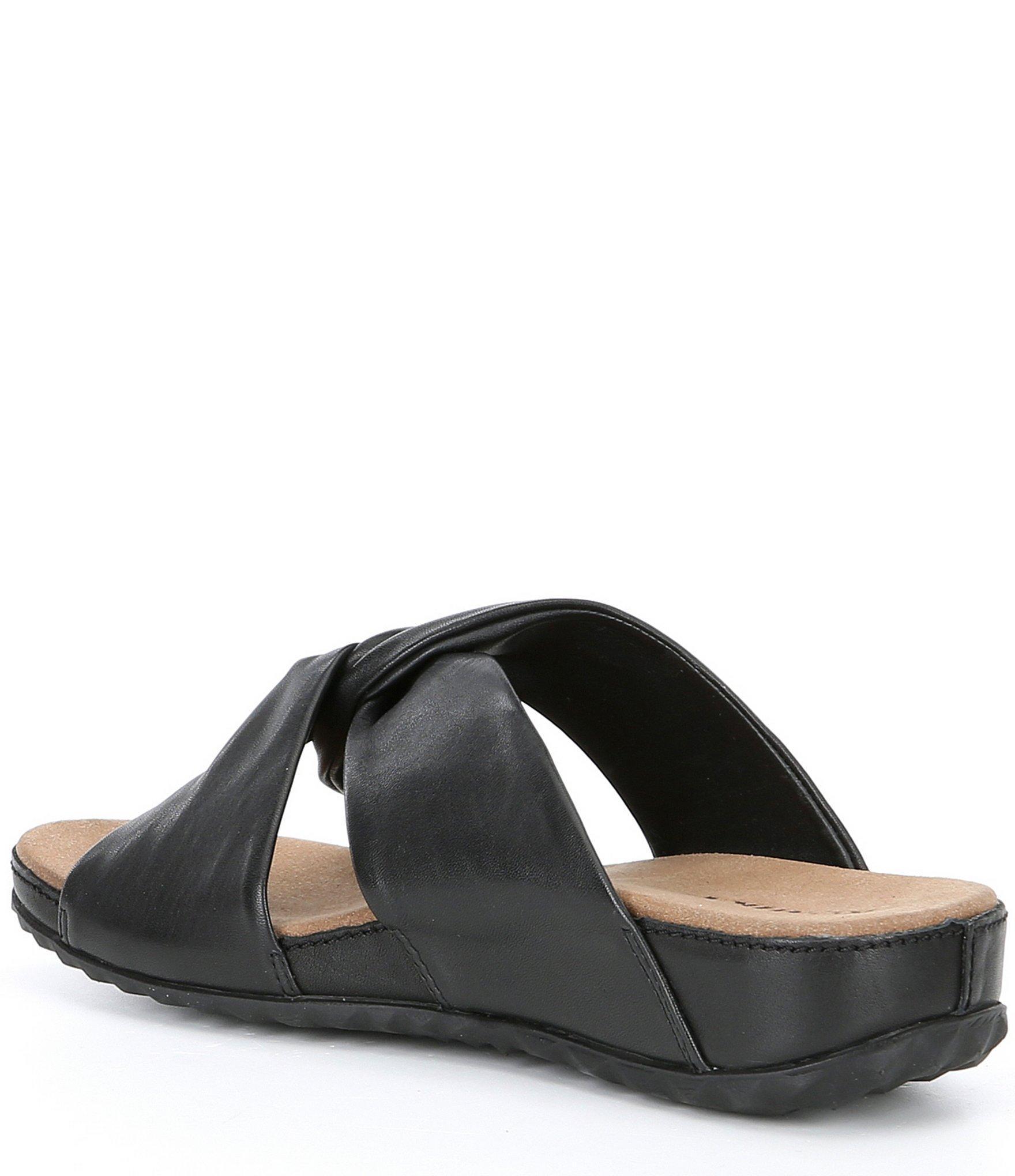 2d754d48c3c9 Romika - Black Florenz 10 Leather Wedge Slide - Lyst. View fullscreen