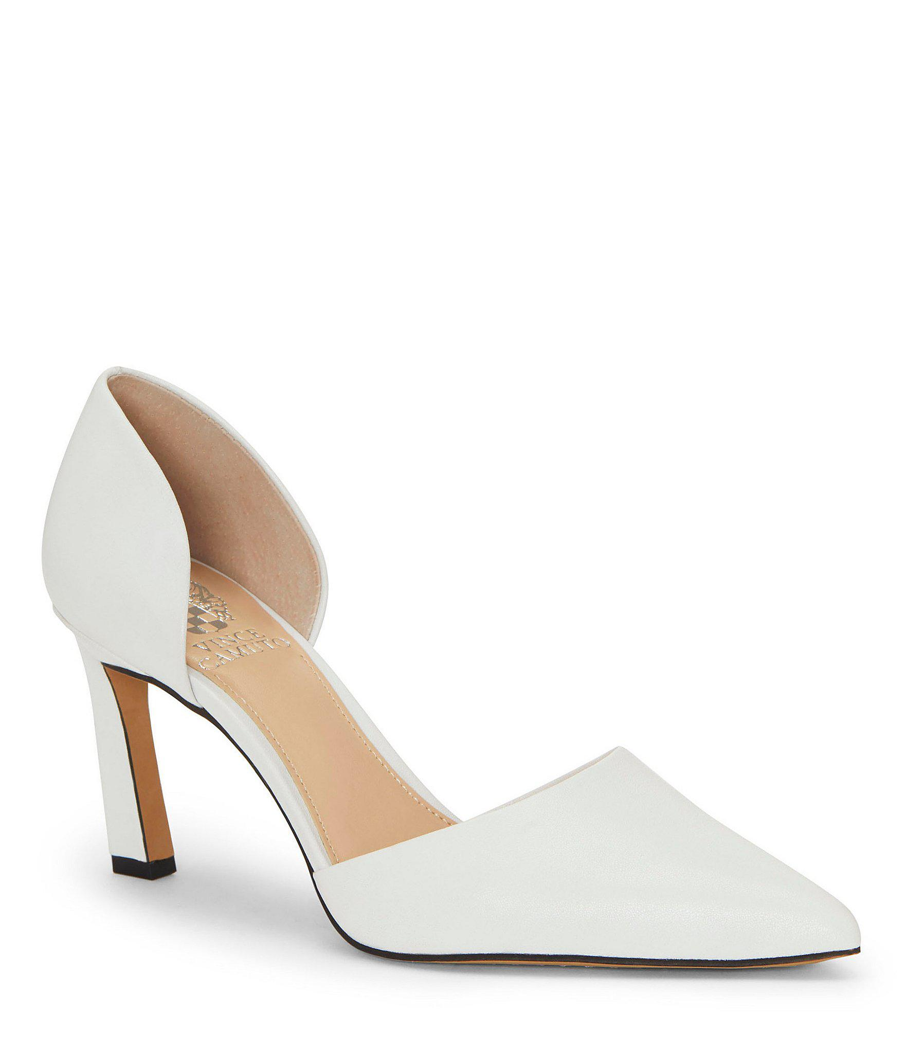 d3611bc2117 Lyst - Vince Camuto Renny Patent Leather D orsay Pumps in White ...