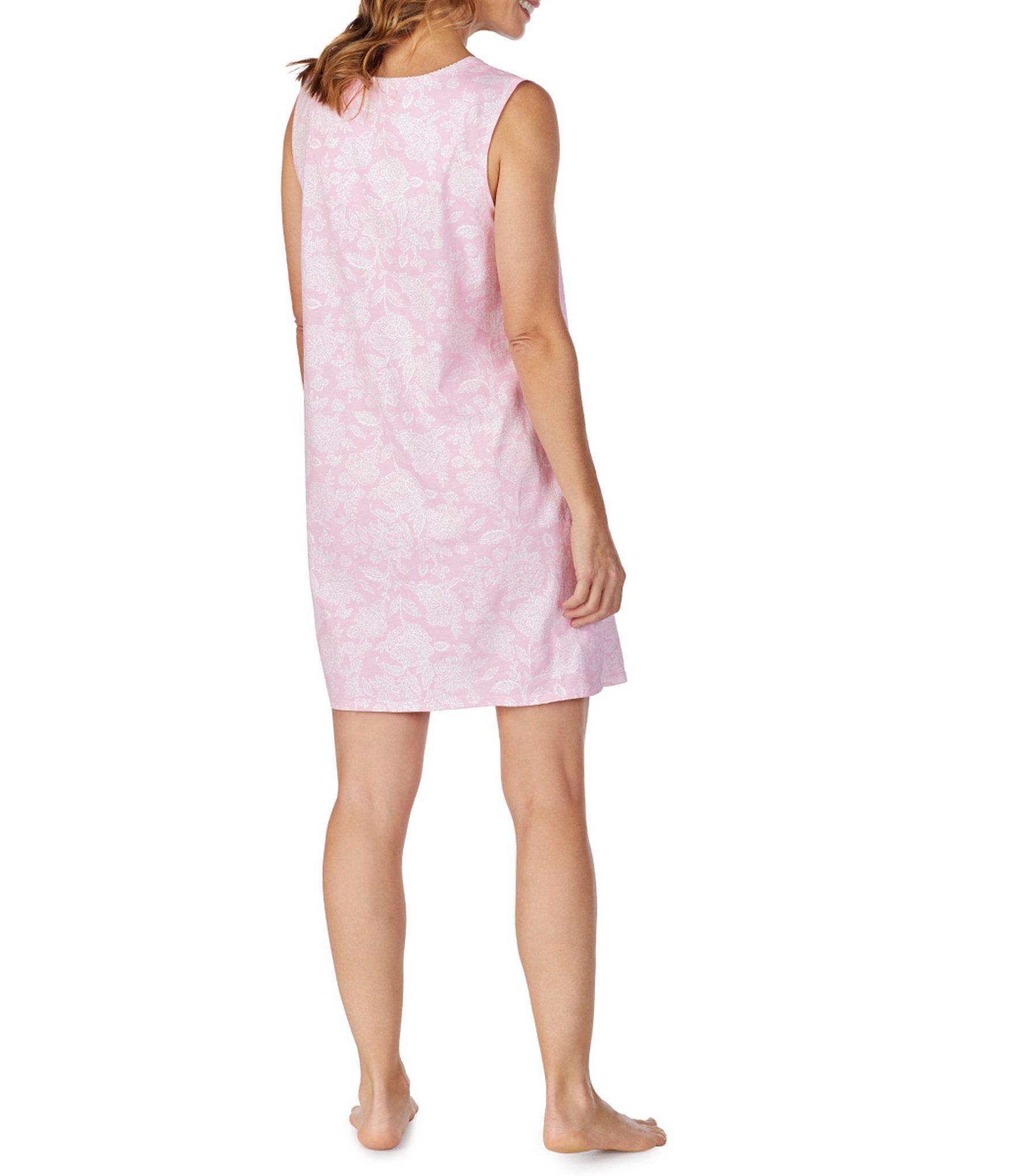 177d6b6d27 Carole Hochman - Pink Damask-printed Jersey Knit Short Gown - Lyst. View  fullscreen