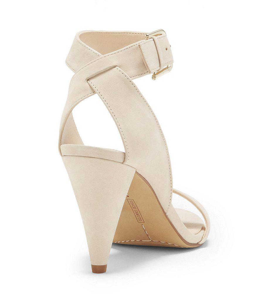 Caitriona Suede Nubuck Buckle Ankle Strap Cone Heel Sandals agF1g5
