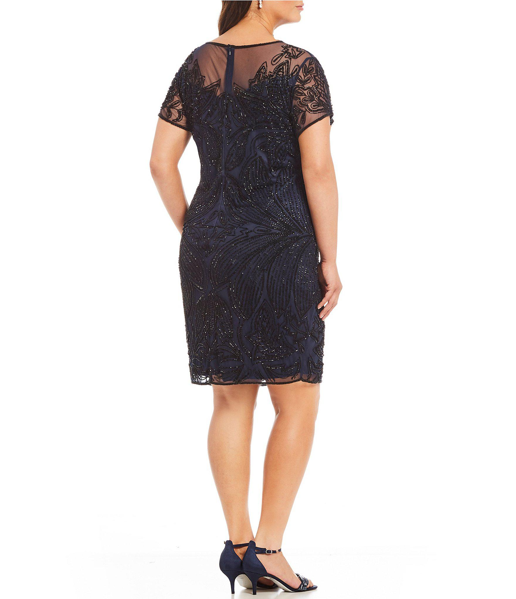 352964c2418 Pisarro Nights - Black Plus Beaded Illusion Dress - Lyst. View fullscreen
