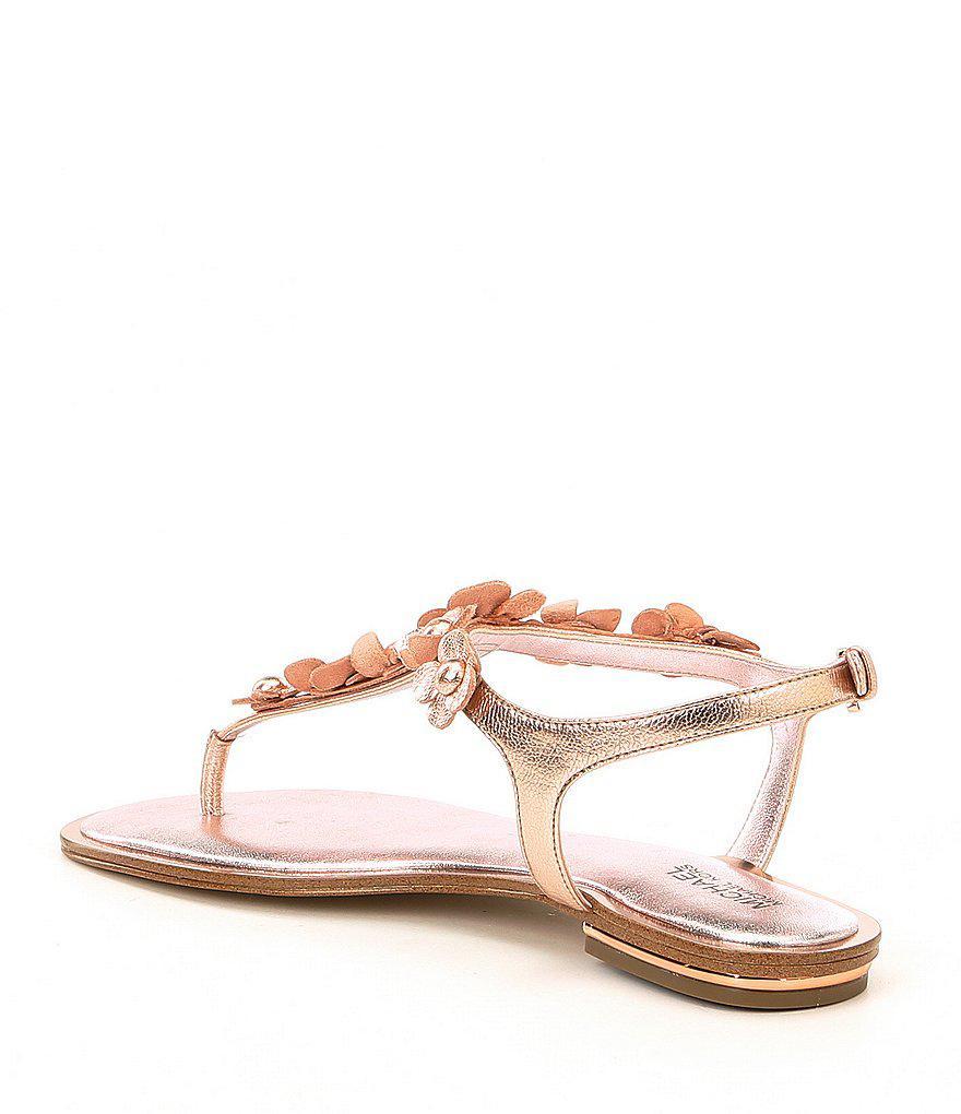 Tricia Metallic Floral Thong Sandals SRDkeHRThB