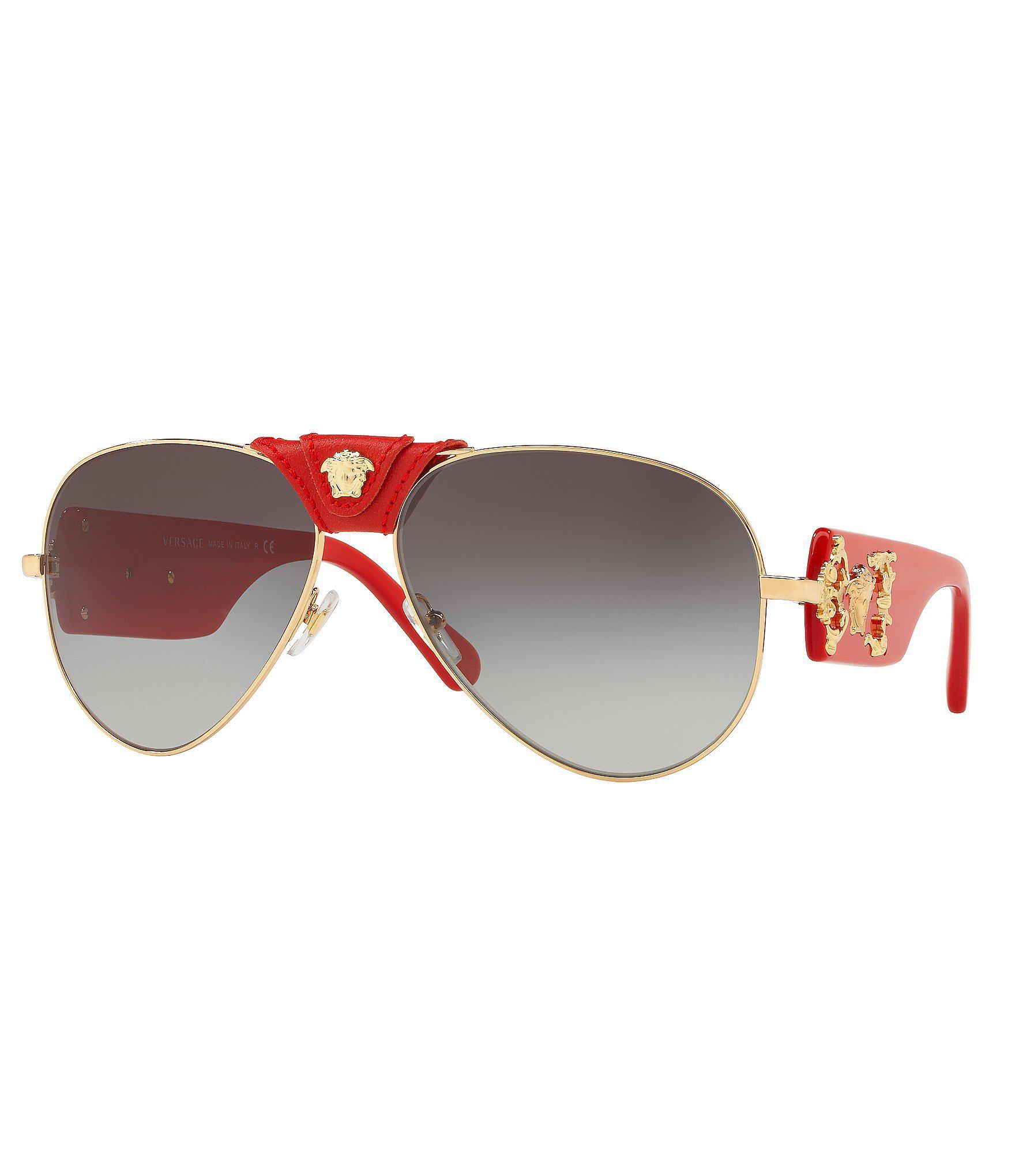 8b264e71e351 Lyst - Versace Men s Rock Icon Barocco Sunglasses in Metallic for ...