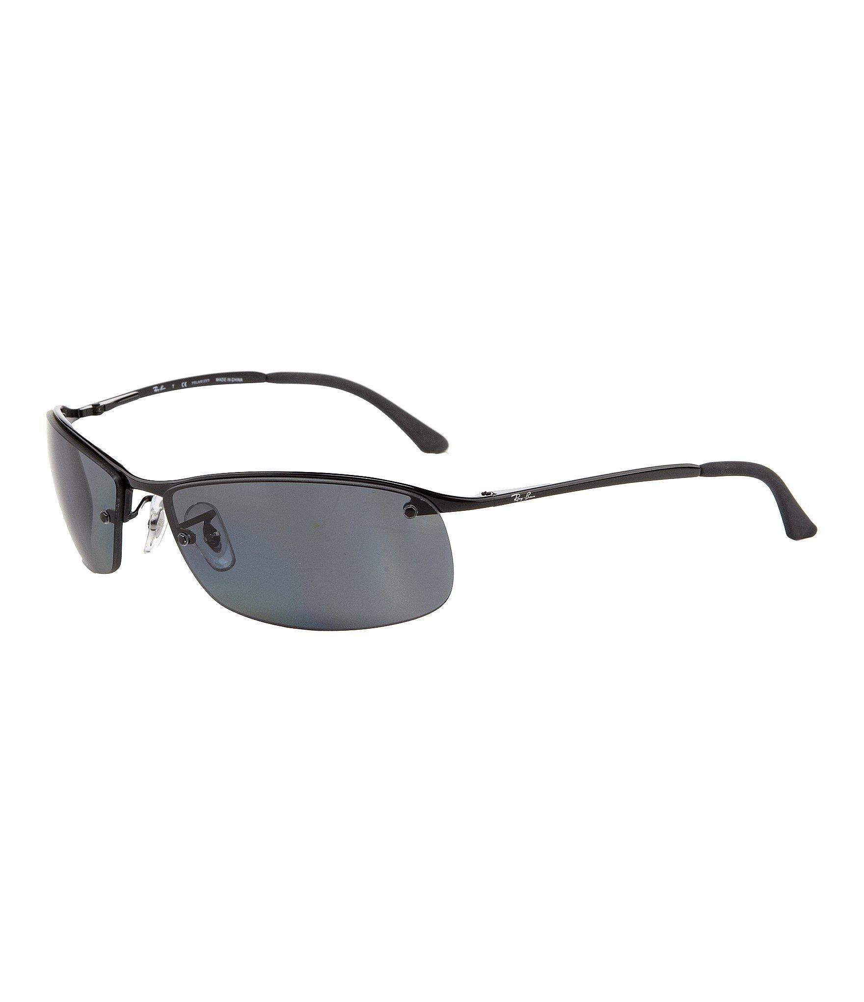 c836ffbdf834 Ray-Ban. Men s Black Polarized Uva uvb Protection Rectangular Sunglasses