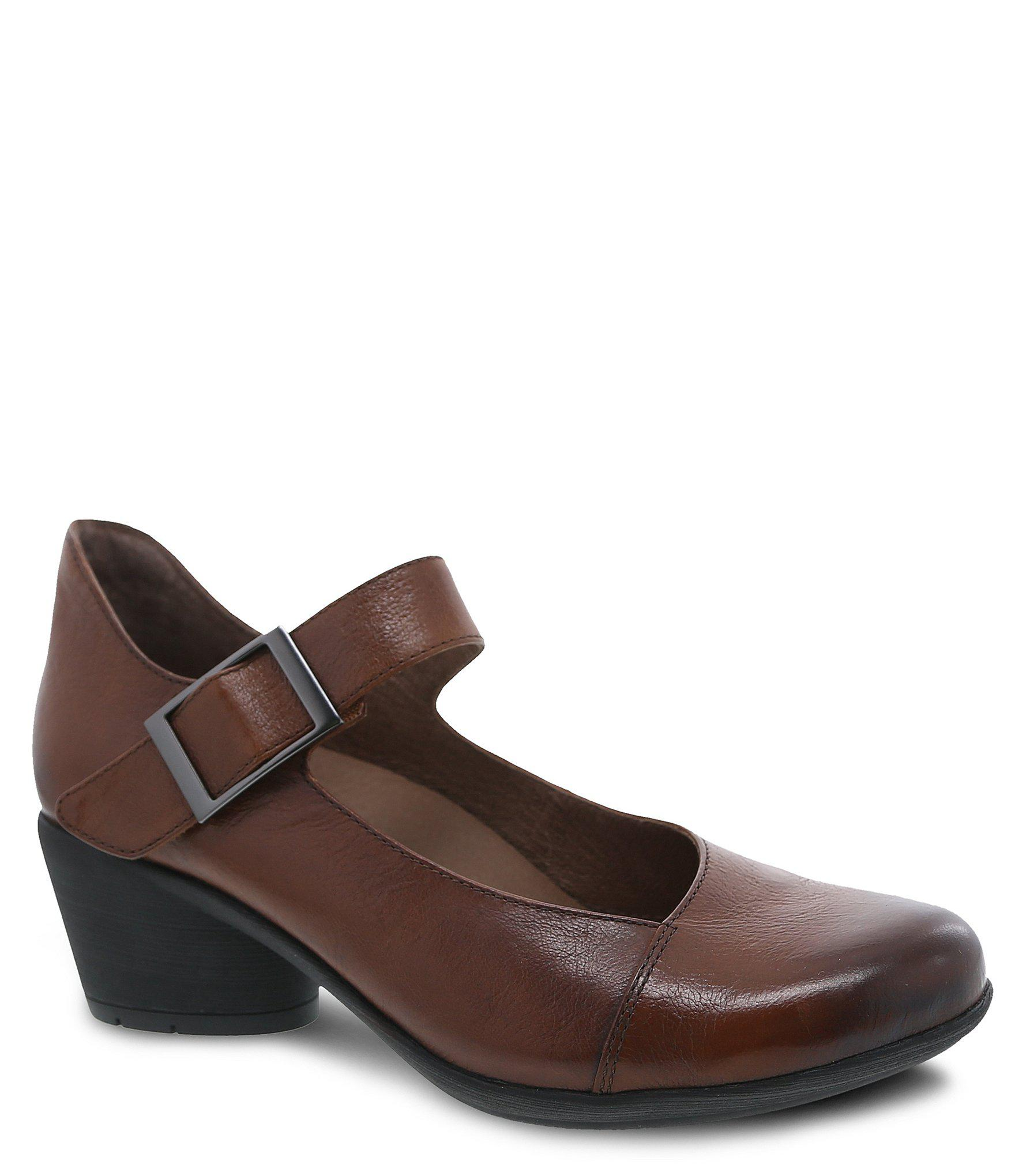 427d5acb0c02 Lyst - Dansko Roxanne Burnished Calf Leather Mary Jane Pumps in Brown