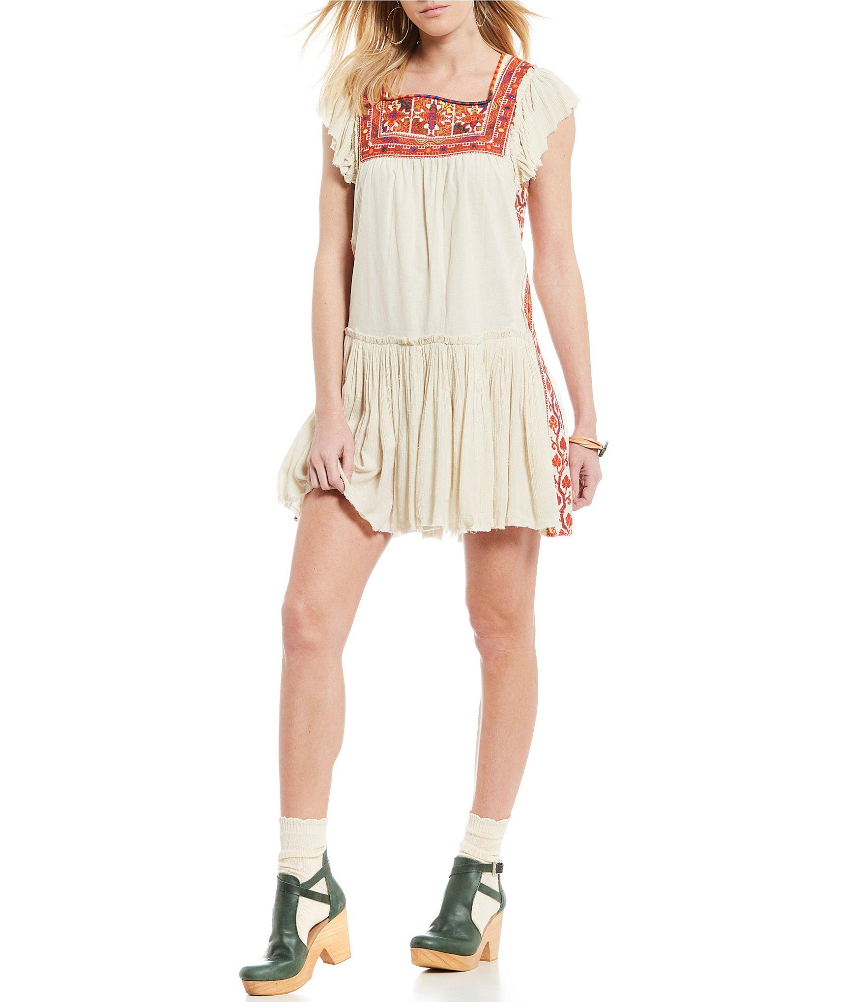 2c16404be361 Free People Day Glow Embroidered Mini Shift Dress - Save 10% - Lyst