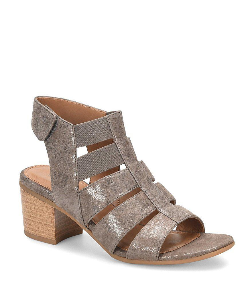 Alexis Gladiator Block Heel Sandals bzPESnjFmu