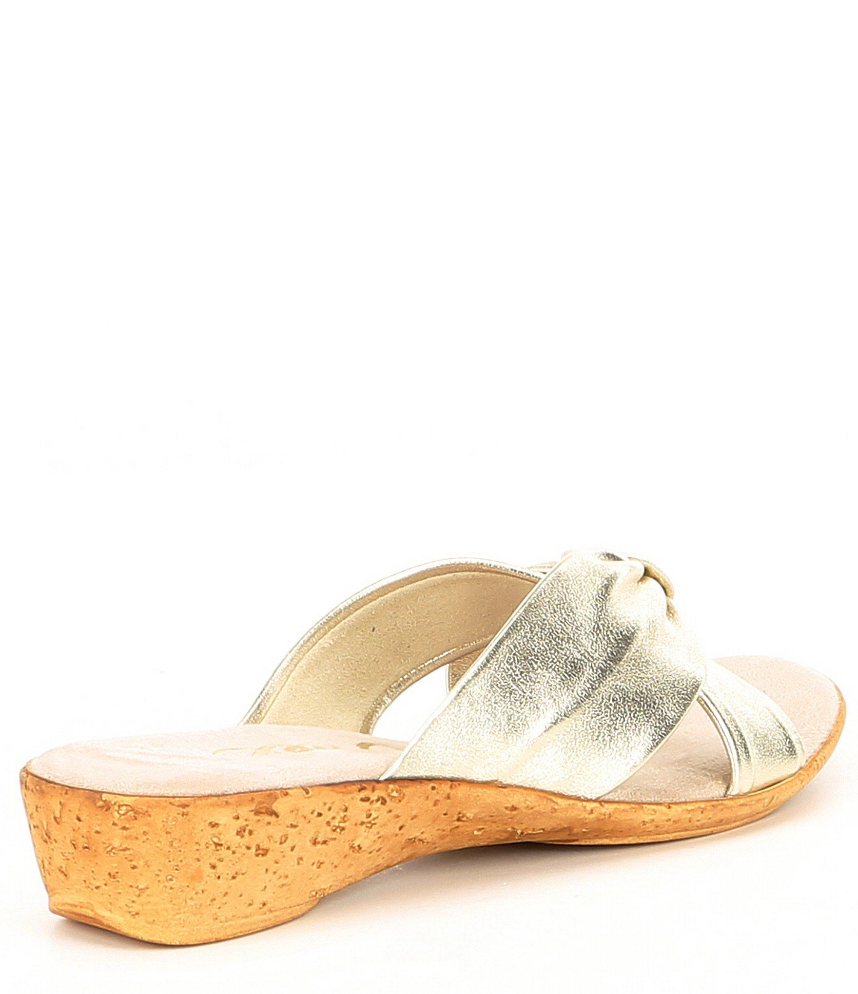 ec97389ae03 Onex - Multicolor Oasis Leather Cross-band Slide Wedge Sandals - Lyst. View  fullscreen