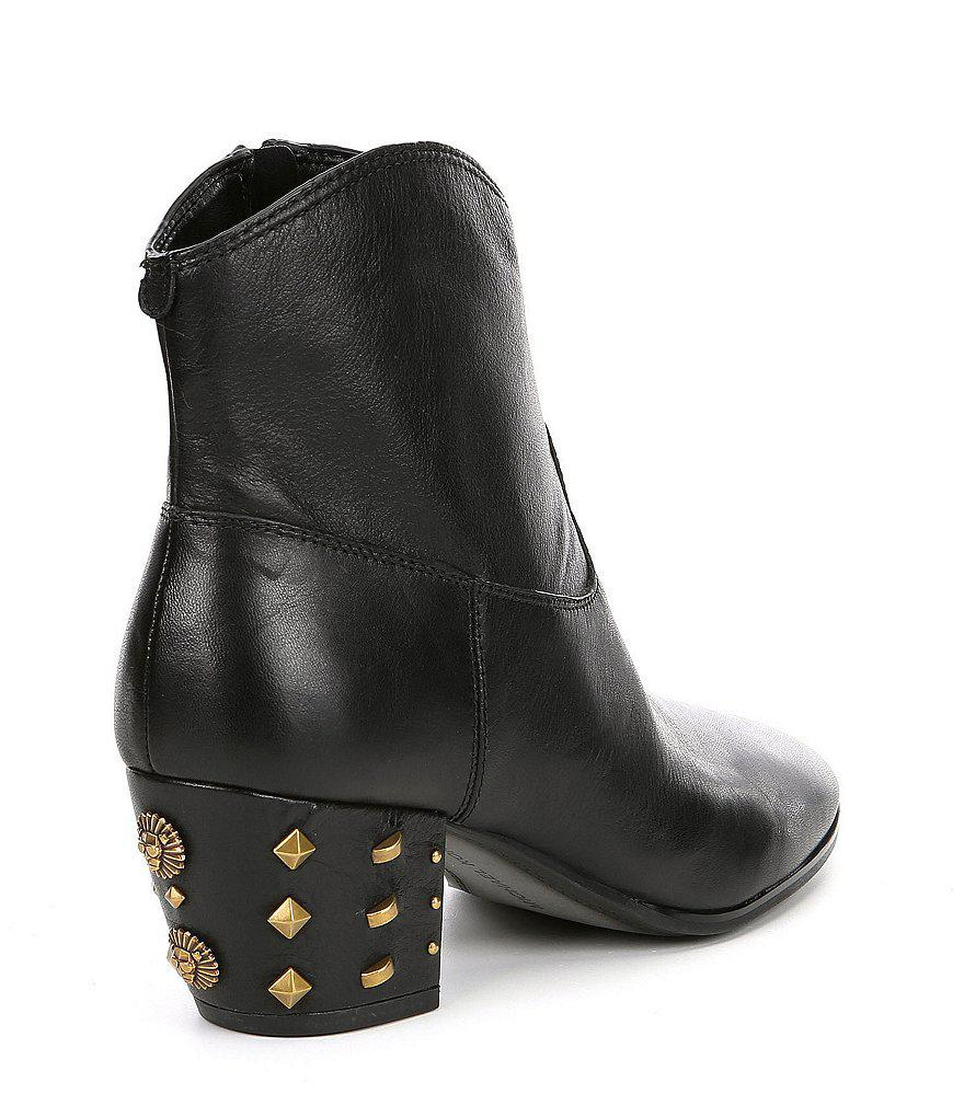 Avery Studded Block Heel Ankle Boots Ay3DaFPd