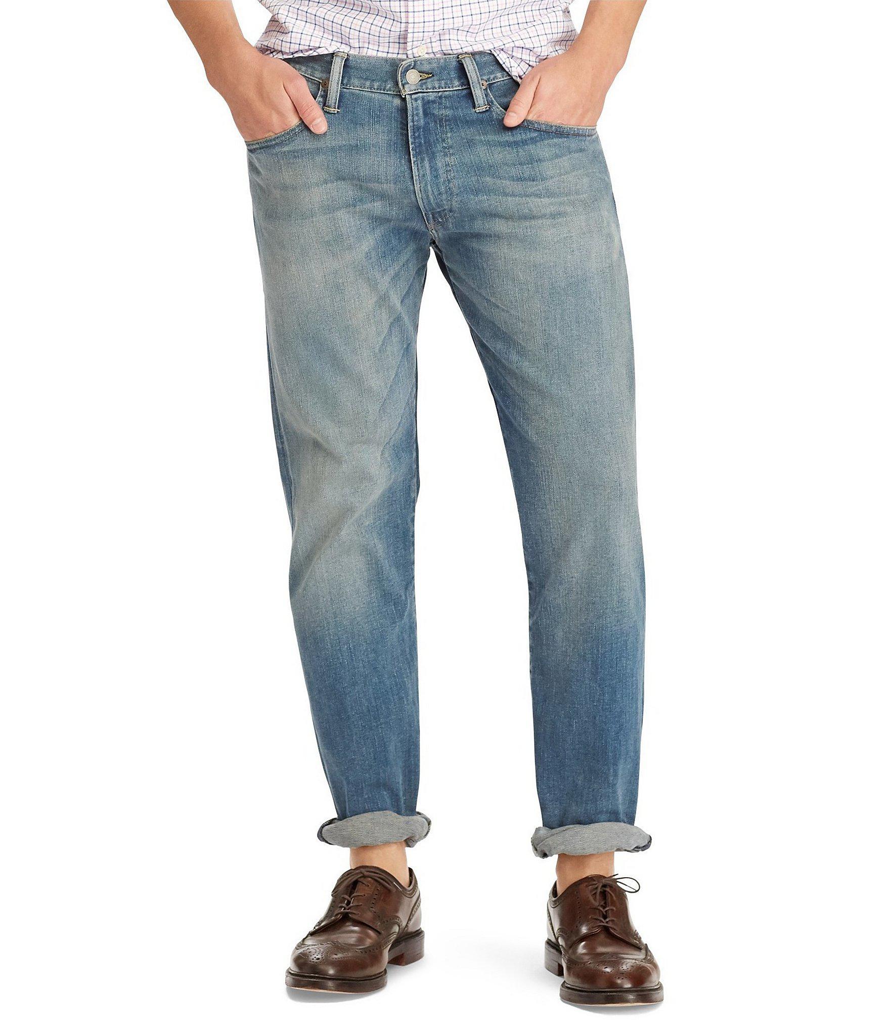 bcf37c193 Polo Ralph Lauren. Men s Blue Hampton Relaxed Straight-fit Stretch Denim  Jeans