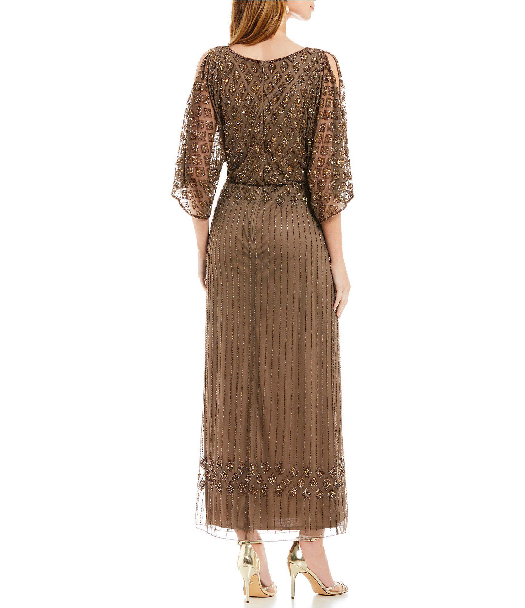 a21a67ced5b Pisarro Nights - Brown Beaded Bodice Blouson Gown - Lyst. View fullscreen