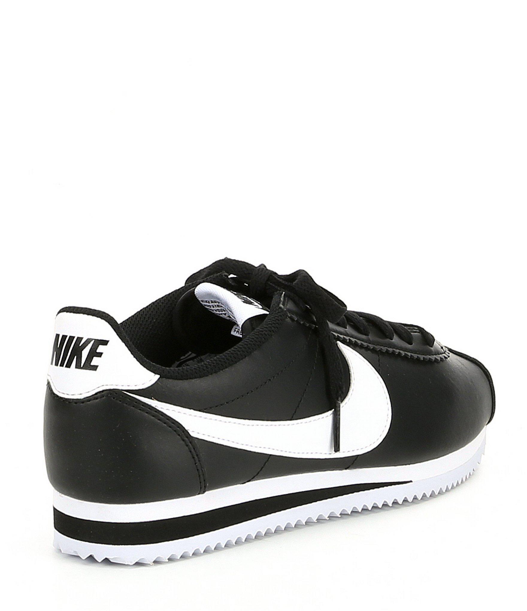 9304b5e14f02 Nike - Black Women s Classic Cortez Leather Lifestyle Shoe - Lyst. View  fullscreen