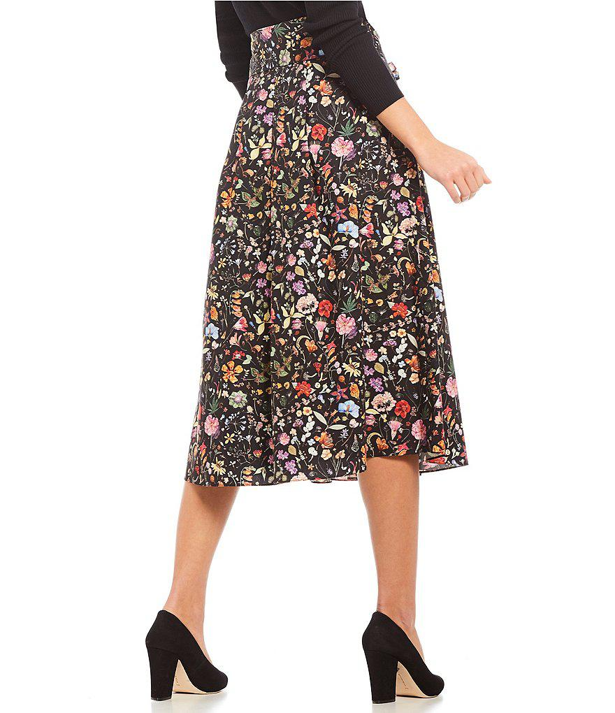 07c91a04dbd Antonio Melani Charlotte Skirt Made With Liberty Fabrics in Black - Lyst