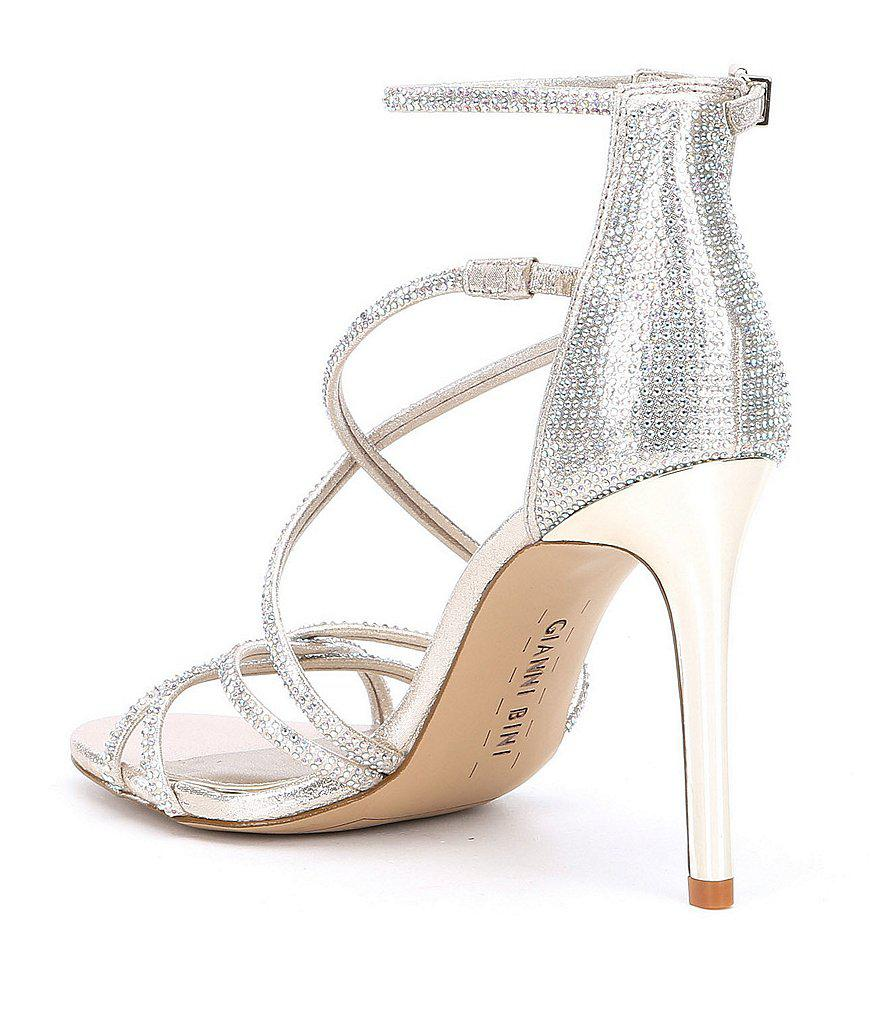 72a72b491bd Lyst - Gianni Bini Anselle Strappy Jeweled Dress Sandals in Metallic