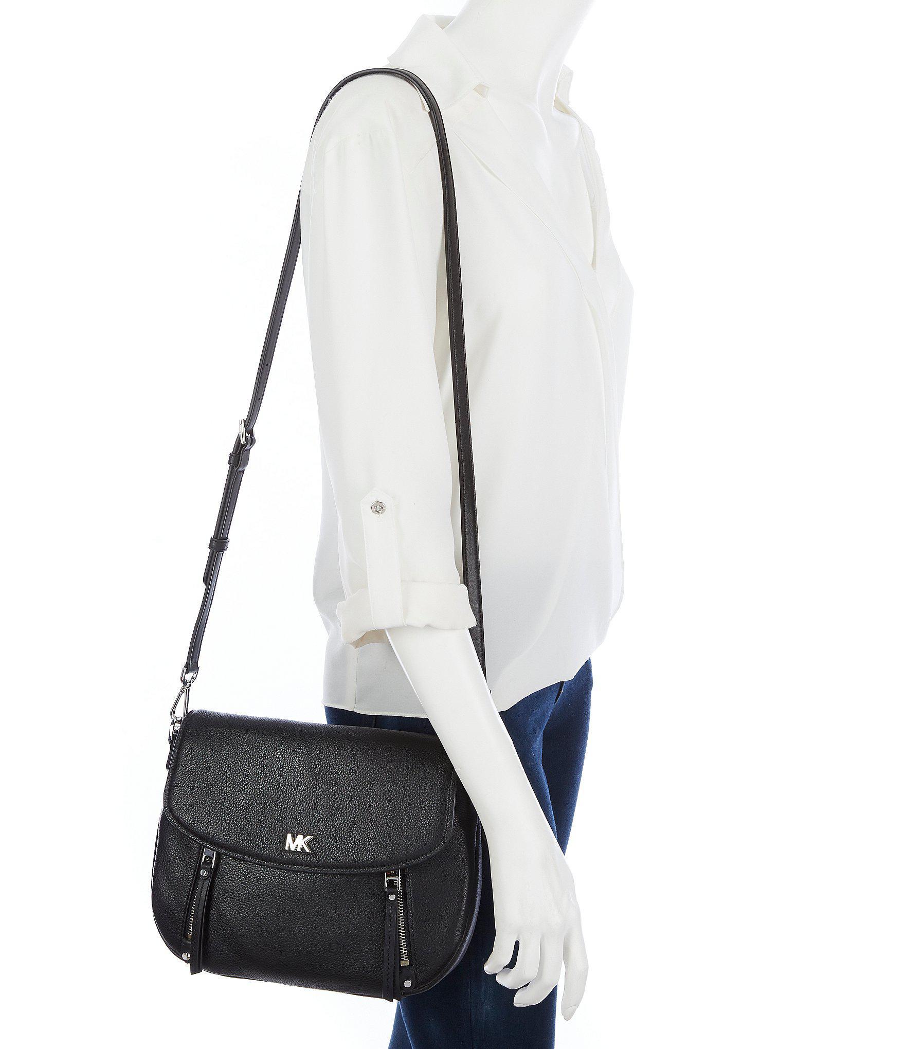6be2edcf187481 MICHAEL Michael Kors Evie Medium Shoulder Bag in Black - Lyst