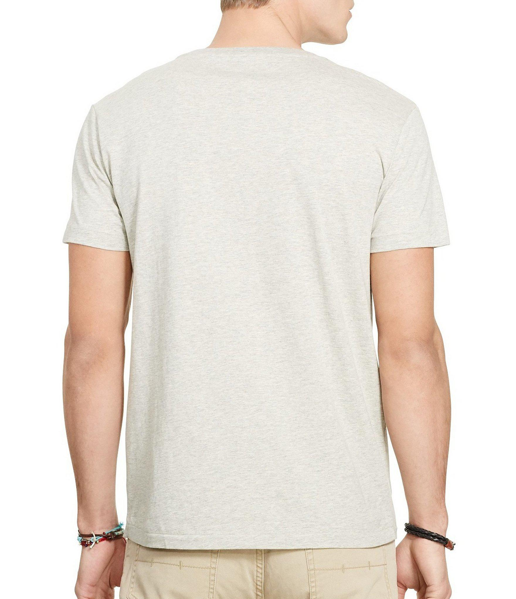 6880a859d Lyst - Polo Ralph Lauren Classic-fit Short-sleeved Cotton Jersey V ...