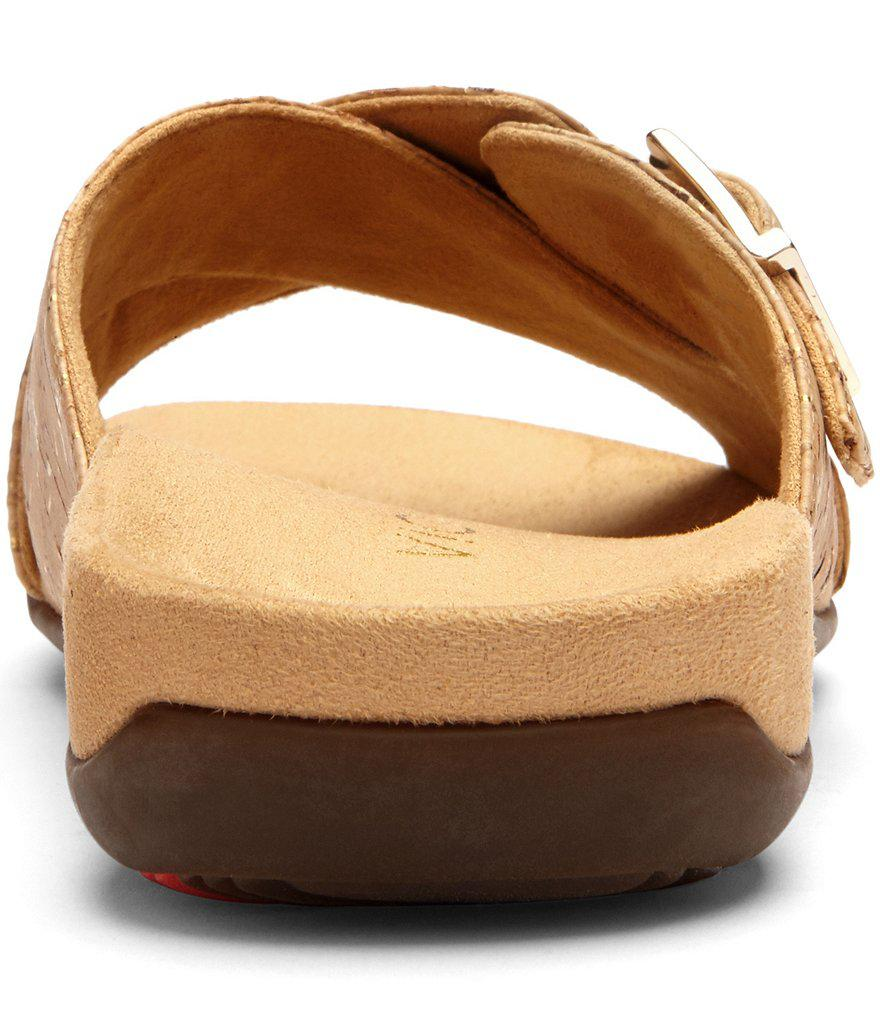 Rest Dorie Cork Criss Cross Banded Slide On Sandals 85Sd88