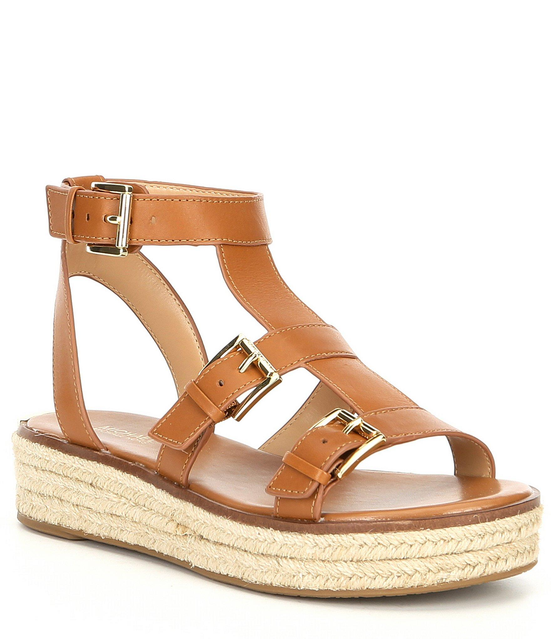 cd9c42f7eb7d Lyst - MICHAEL Michael Kors Cunningham Vachetta Leather Sandals in Brown