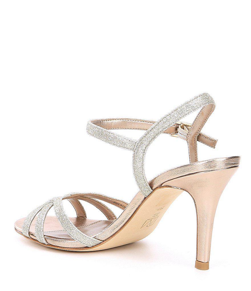 Roslyn 3 Metallic Glitter Dress Sandals bIWH7poy