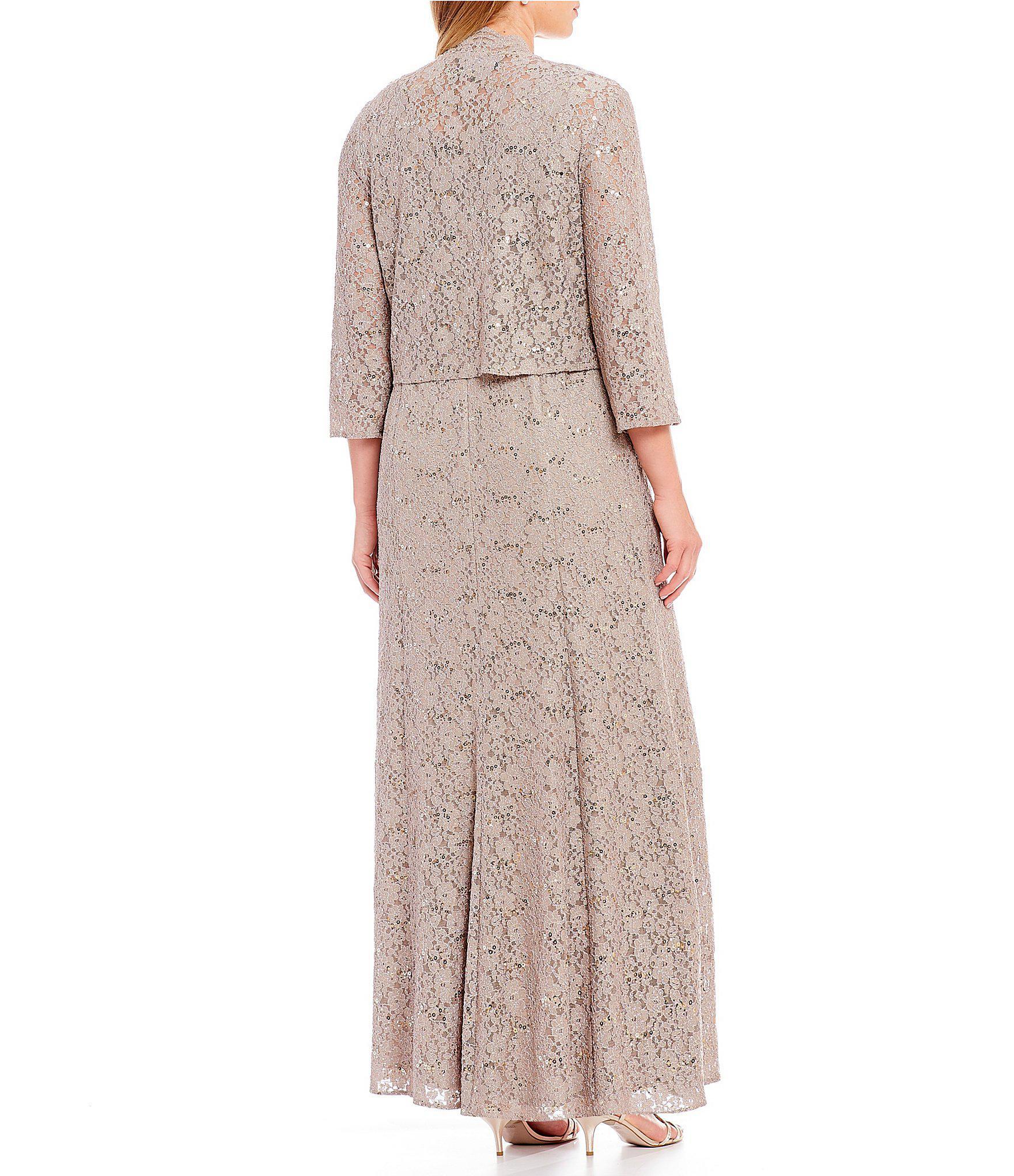 21f98141f51 Lyst - Alex Evenings Plus Size Lace A-line Long Jacket Dress