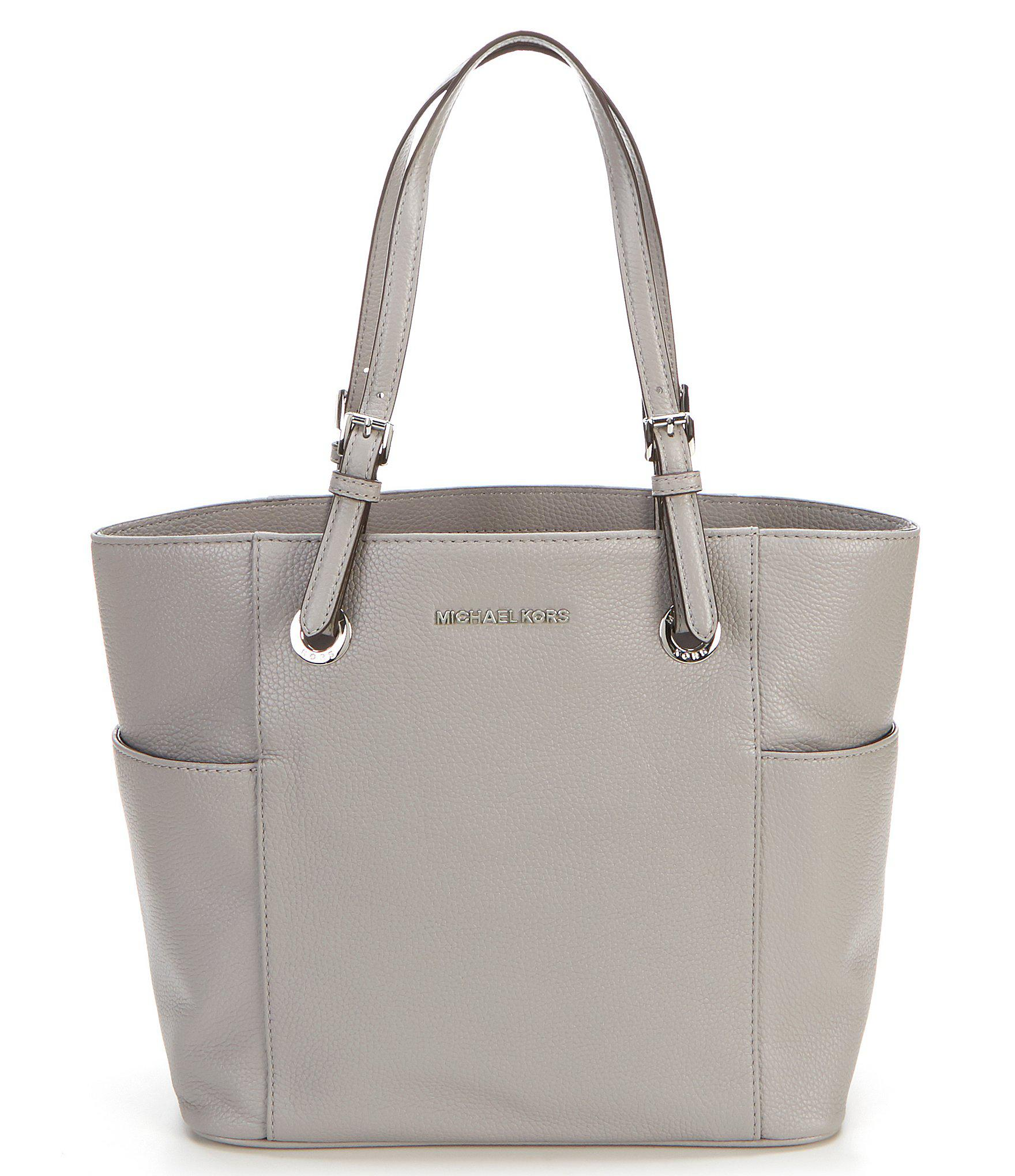 07671bfd6f69 Lyst - MICHAEL Michael Kors Jet Set East West Pocket Tote in Gray