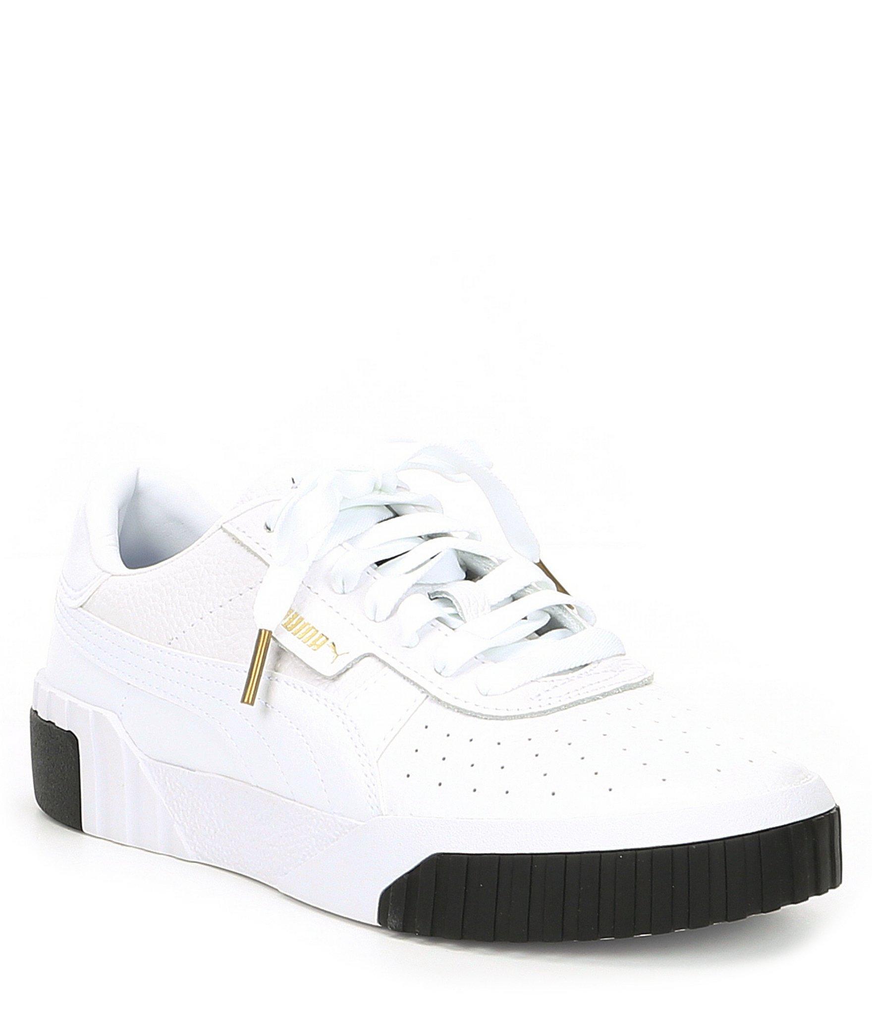 ca75ebae35e Lyst - PUMA Women s Cali Leather Sneakers in White
