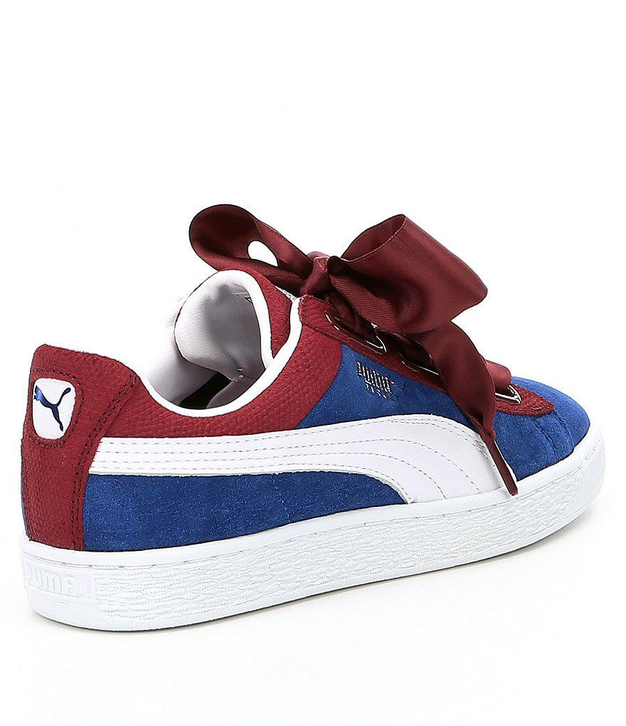 puma basket heart colours