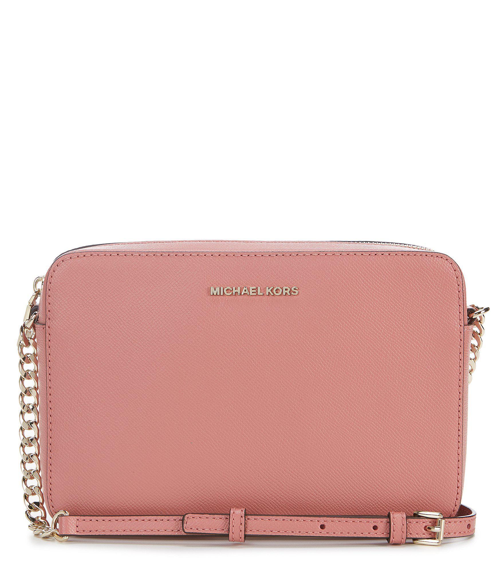 8647c9b2b67c93 Lyst - MICHAEL Michael Kors Large East/west Cross-body Bag in Pink