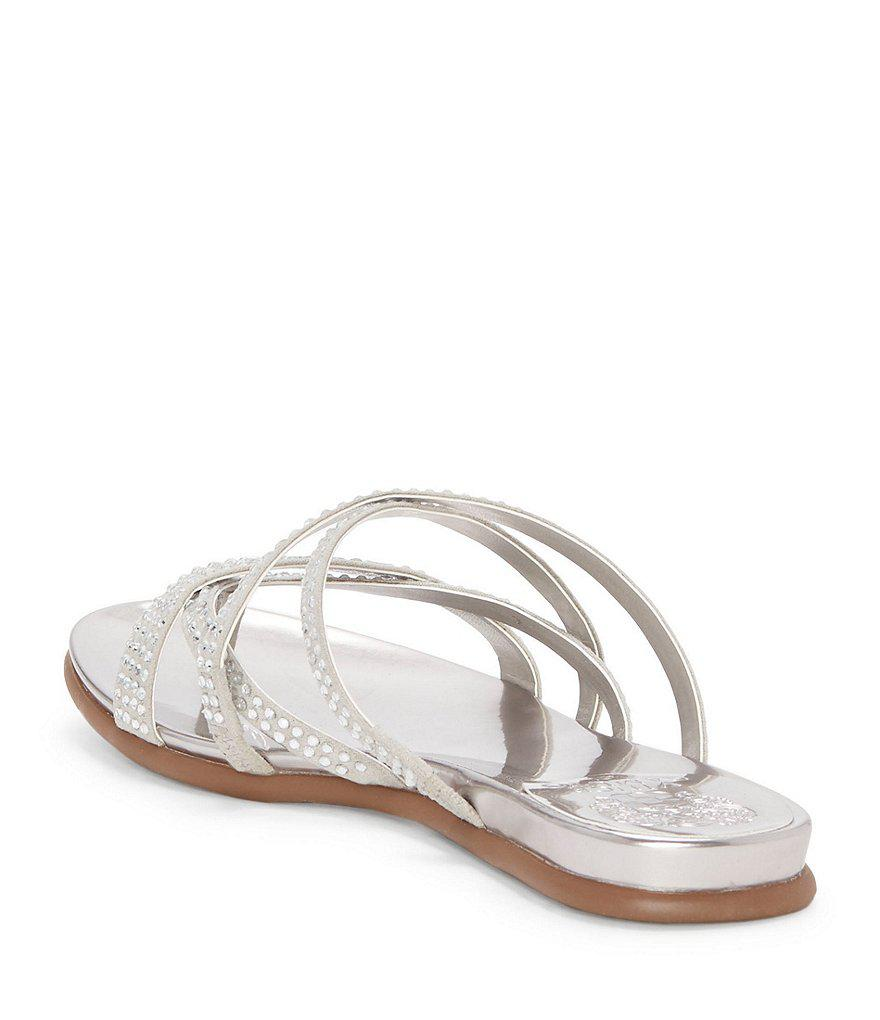 Vince Camuto Evesie Sparkle Jeweled Thong Sandals 0zsgFd