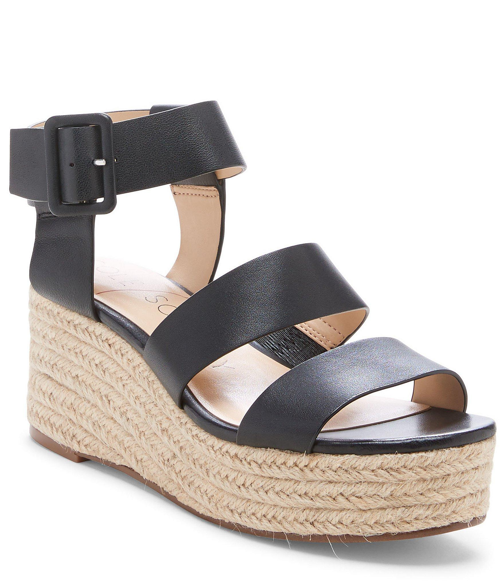c79f7f059050 Lyst - Sole Society Anisa Leather Wedge Espadrille Sandals in Black