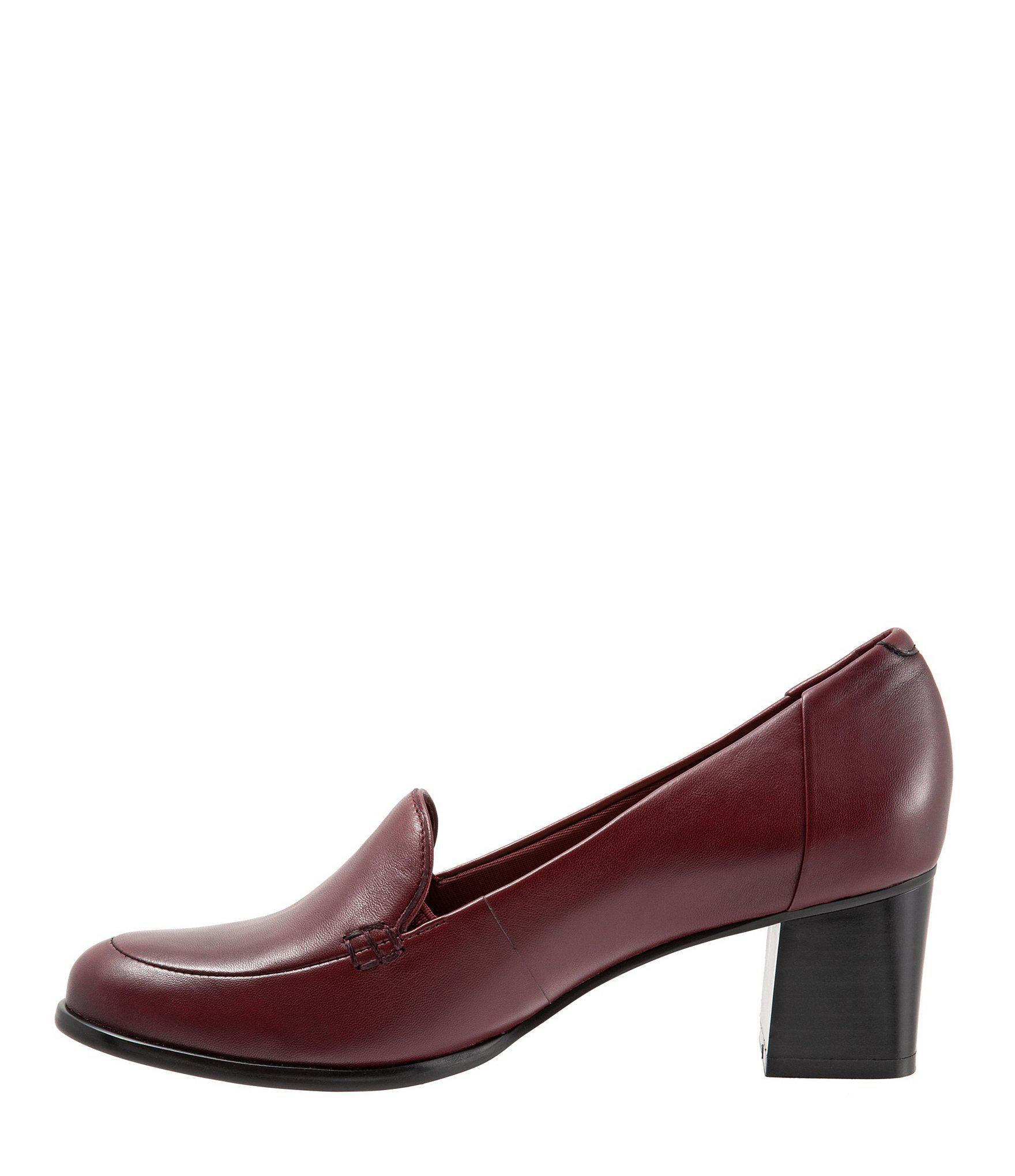 4e415de8a2 Trotters - Red Quincy Leather Loafer Pumps - Lyst. View fullscreen