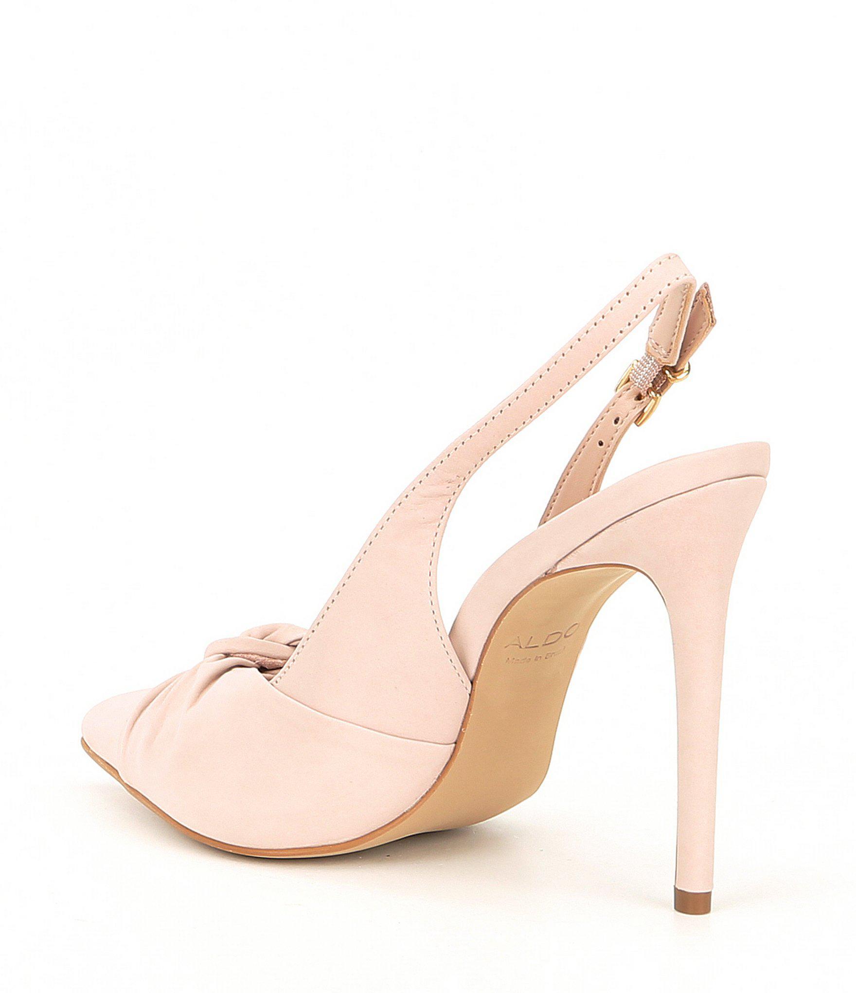 b062ebac259 Lyst aldo separation leather bow slingback pumps in pink jpg 1760x2040 Pink  slingback pumps shoes aldo