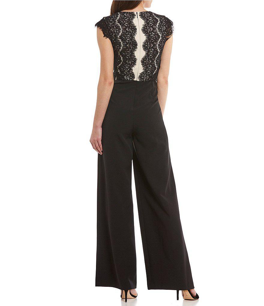 689fae52be5b Lyst - Antonio Melani Bera Lace Jumpsuit in Black