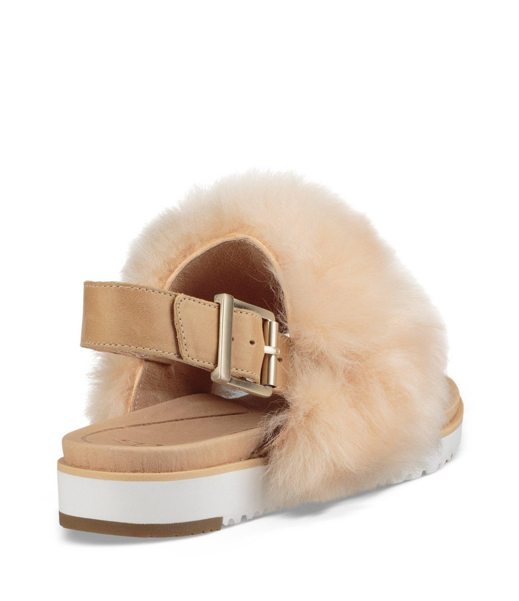 b2ae0e28765c Ugg - Multicolor Holly Sheepskin Fur Sandals - Lyst. View fullscreen