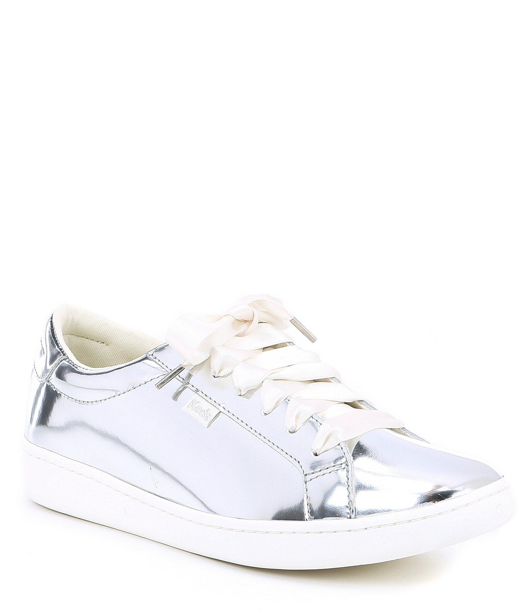 2d483429b0c7 Lyst - Kate Spade Keds X Ace Leather Specchio Sneakers in Metallic ...