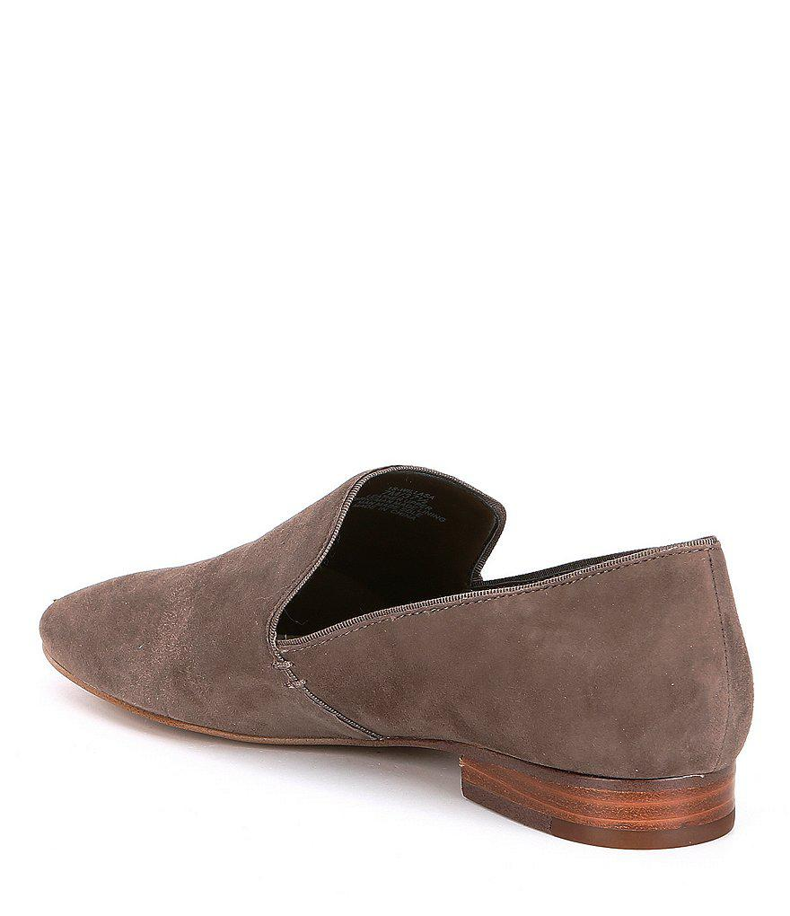 Willasa Suede Stacked Heel Flats TFdPkE