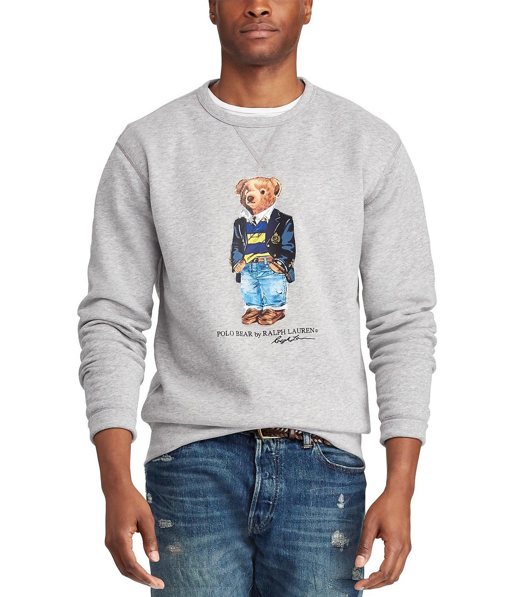 ad45fad2 Polo Ralph Lauren Preppy Bear Fleece Sweatshirt in Gray for Men - Lyst
