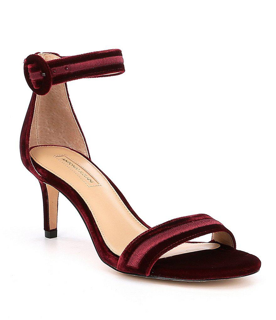 1ddf7d799fd1d Lyst - Antonio Melani Suzannah Velvet Dress Sandals