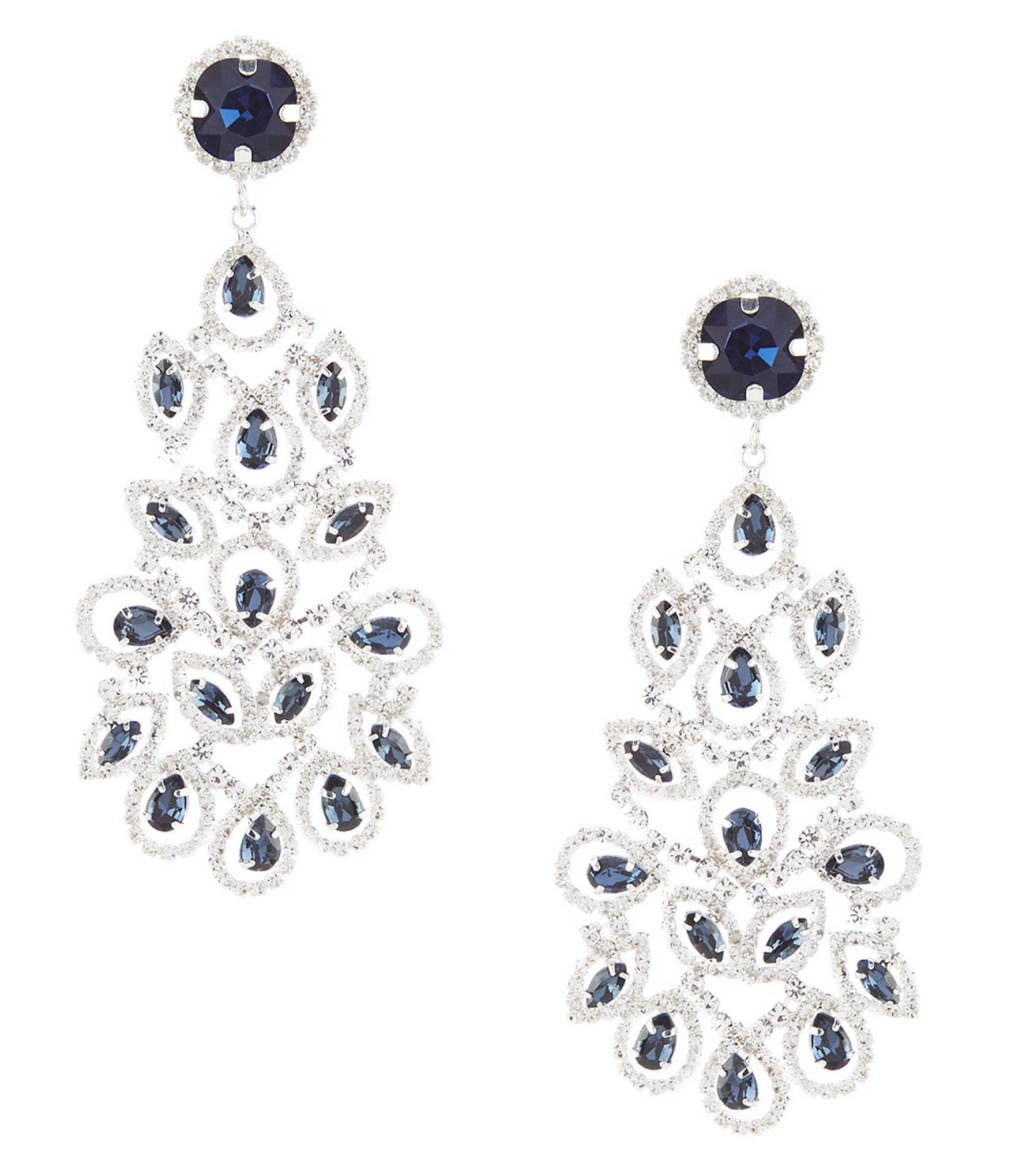 b683921aa Cezanne Blue Duchess Chandelier Statement Earrings in Metallic - Lyst