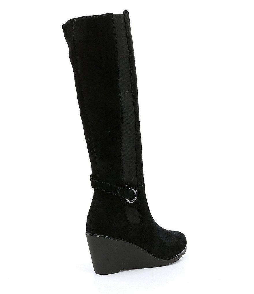2636e1ded45 Lyst - Blondo Waterproof Lexie Tall Wedge Boots in Black